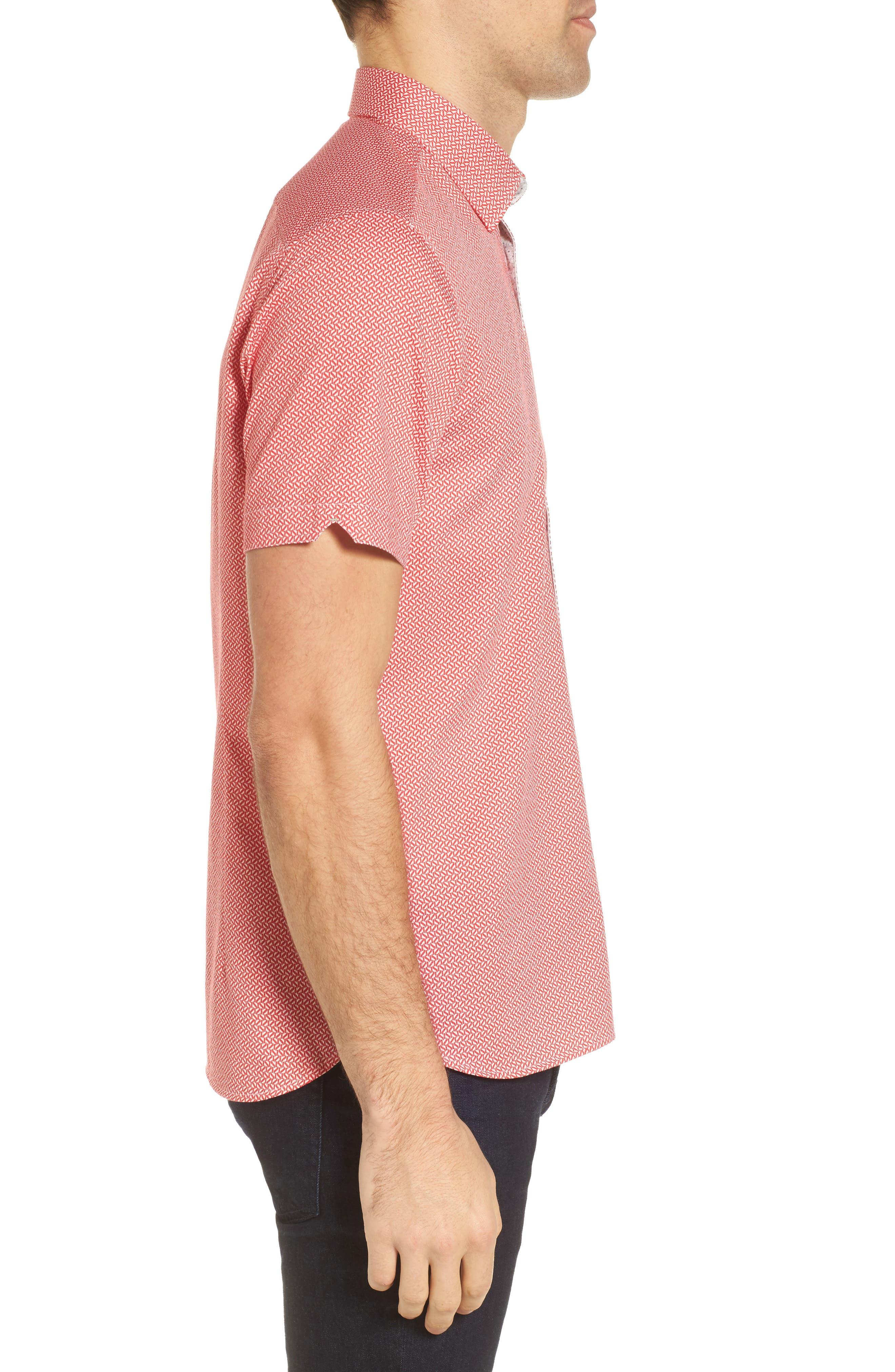 Alternate Image 3  - Ted Baker London Slim Fit Print Sport Shirt