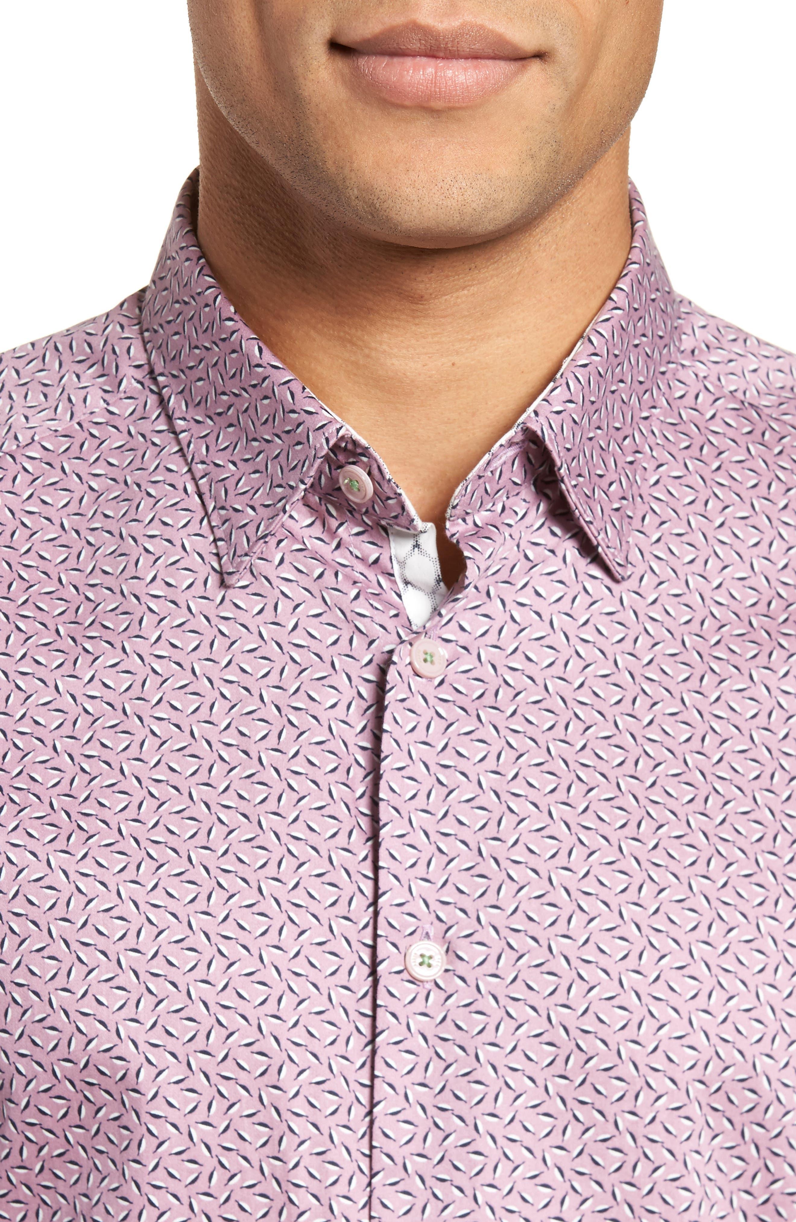 Narnar Trim Fit Geo Print Camp Shirt,                             Alternate thumbnail 2, color,                             Light Pink