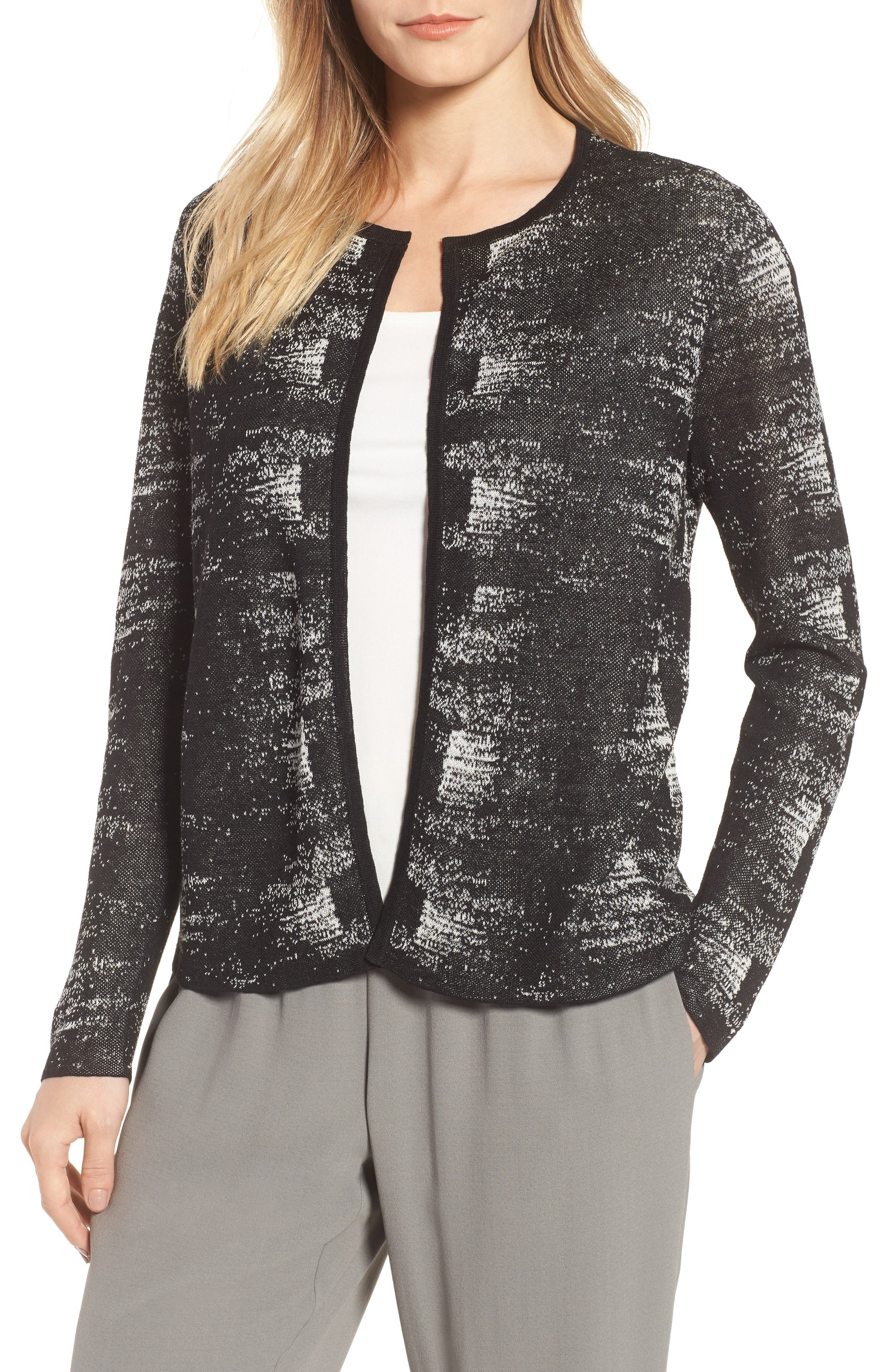 Eileen Fisher Organic Linen Blend Cardigan (Regular & Petite)
