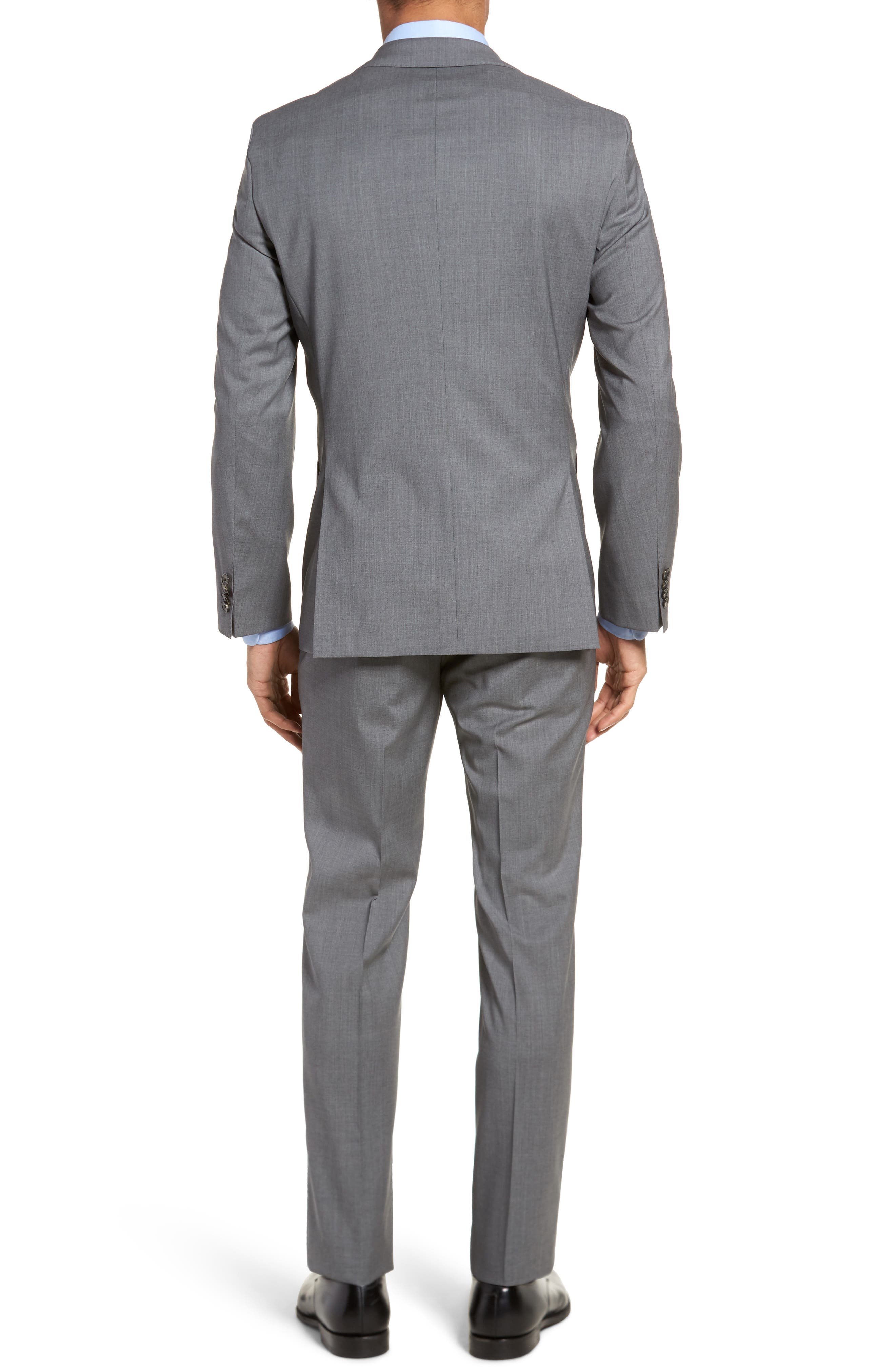 Johnstons/Lenon Classic Fit Solid Wool Suit,                             Alternate thumbnail 2, color,                             Medium Grey