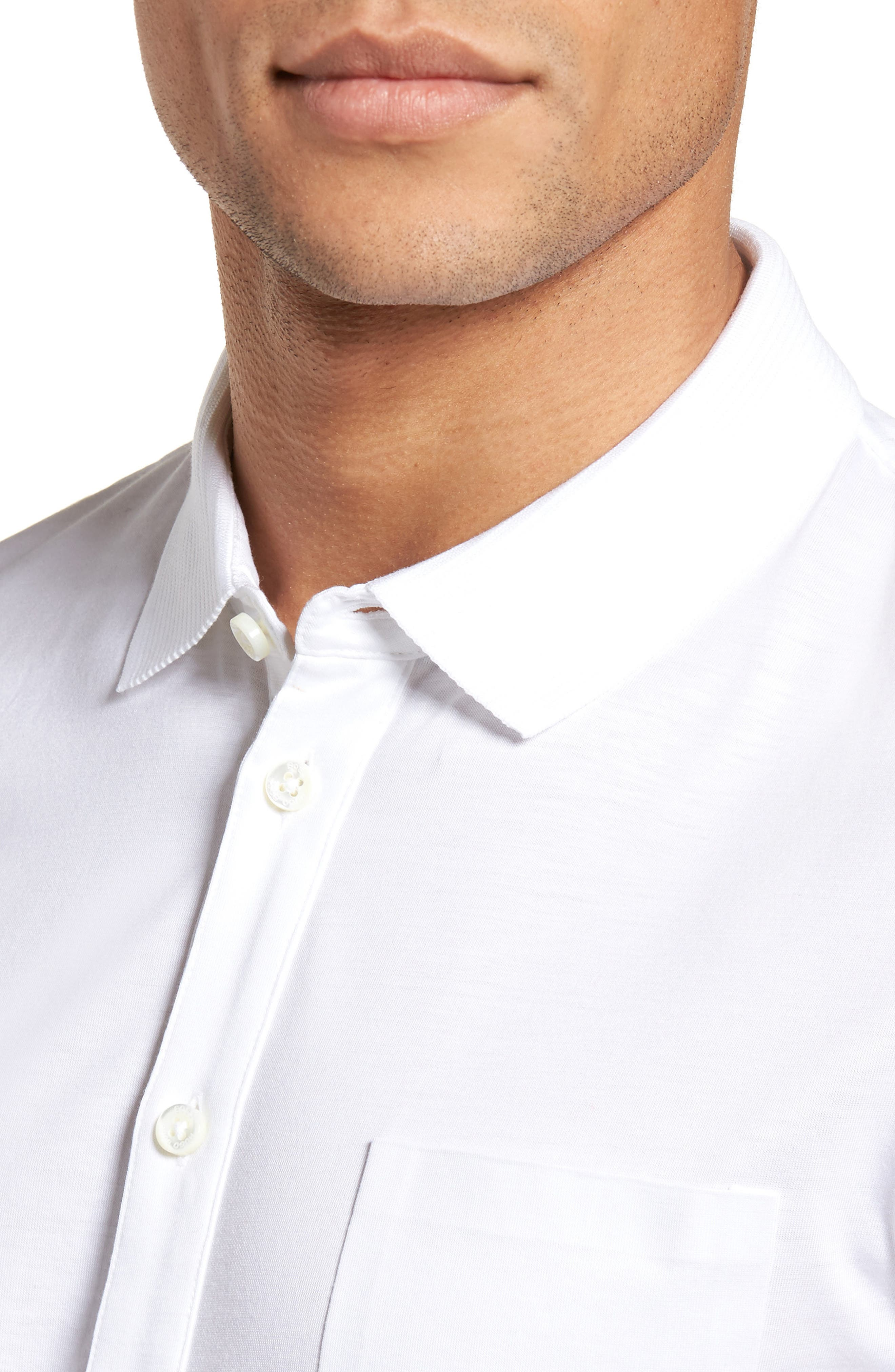 Puno Slim Fit Short Sleeve Sport Shirt,                             Alternate thumbnail 2, color,                             White