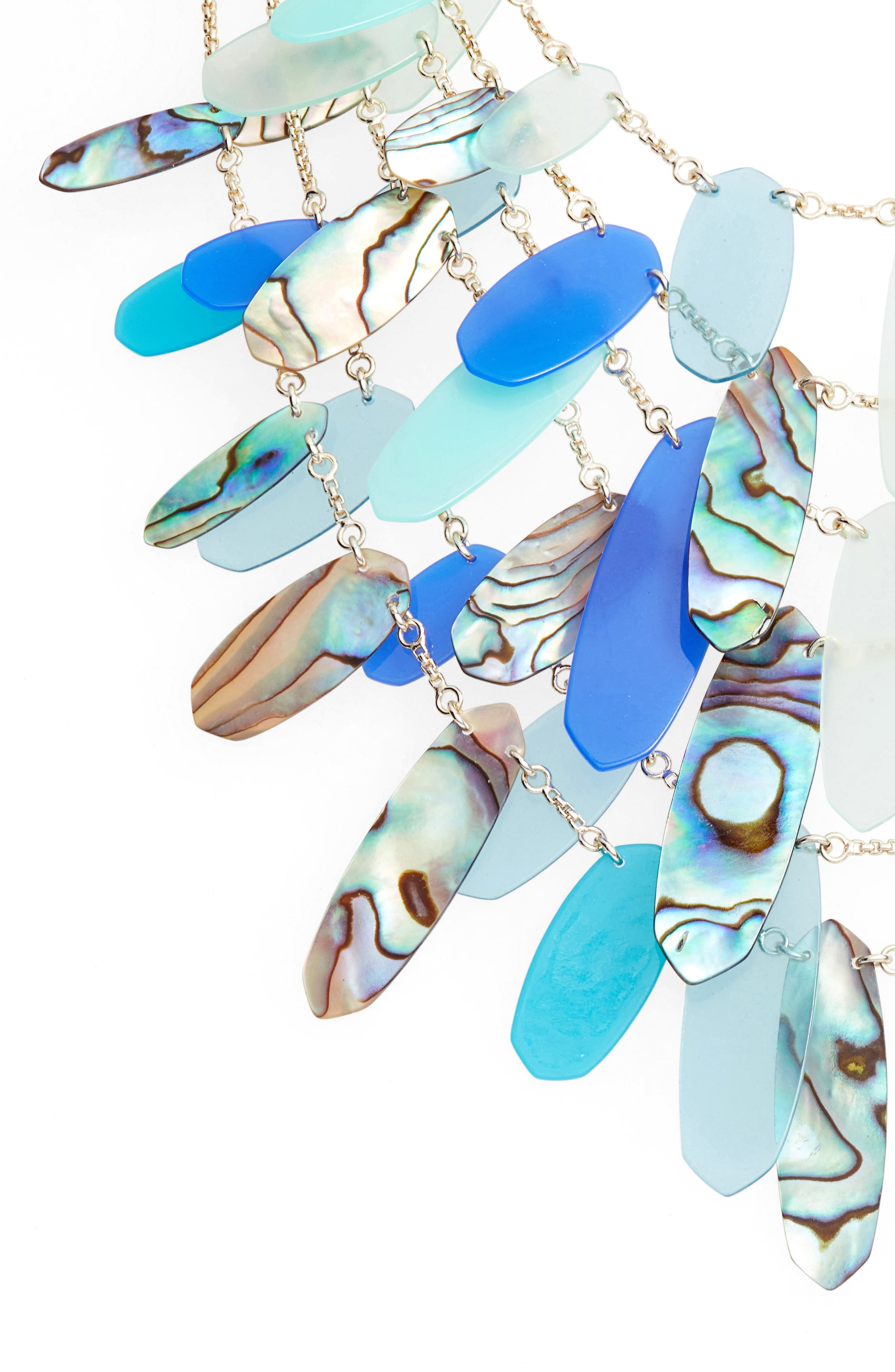 Patricia Multistrand Necklace,                             Alternate thumbnail 2, color,                             Blue Mix Abalone/ Gold