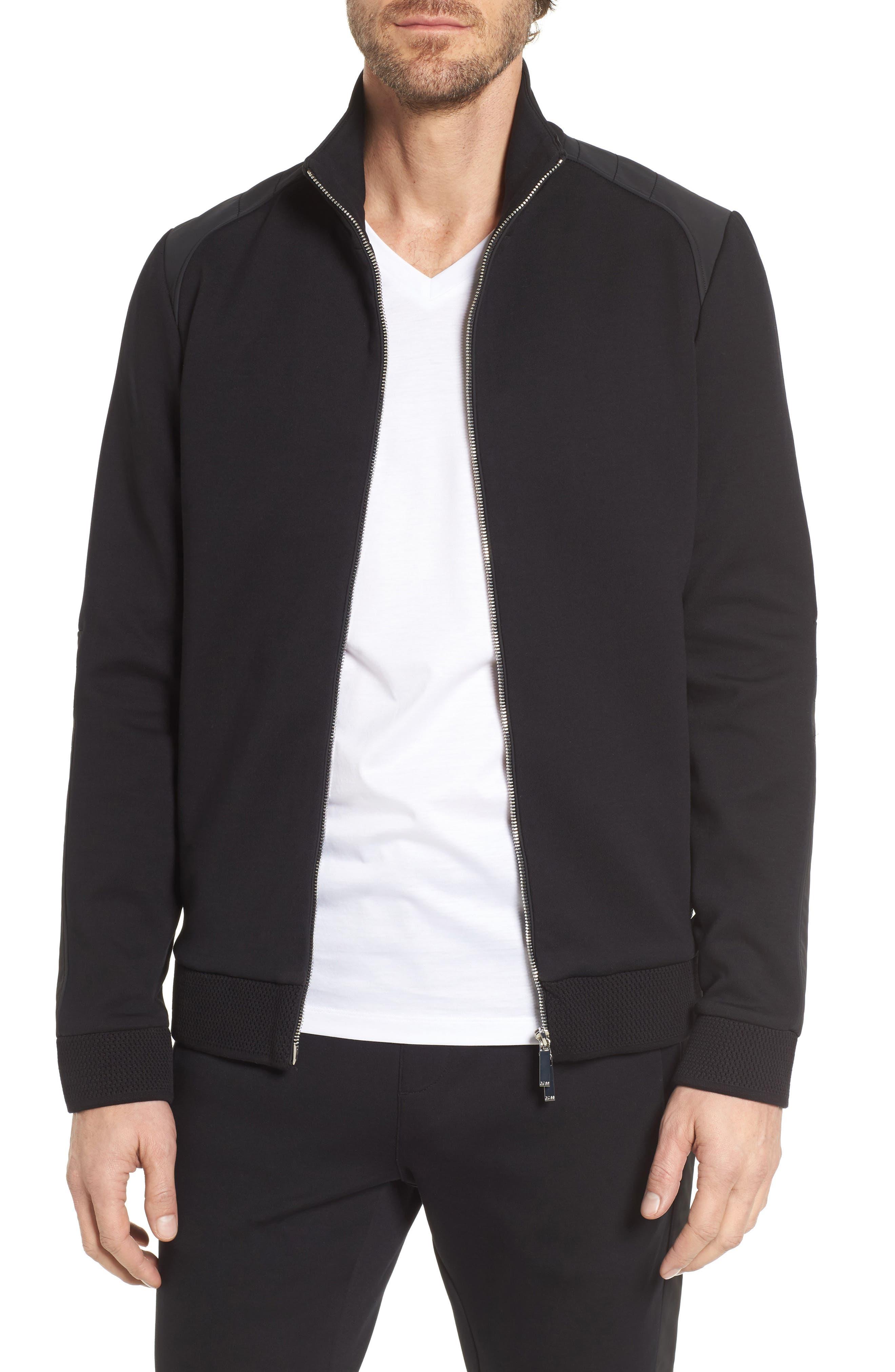 Soule Mercedes Slim Fit Zip Jacket,                         Main,                         color, Black