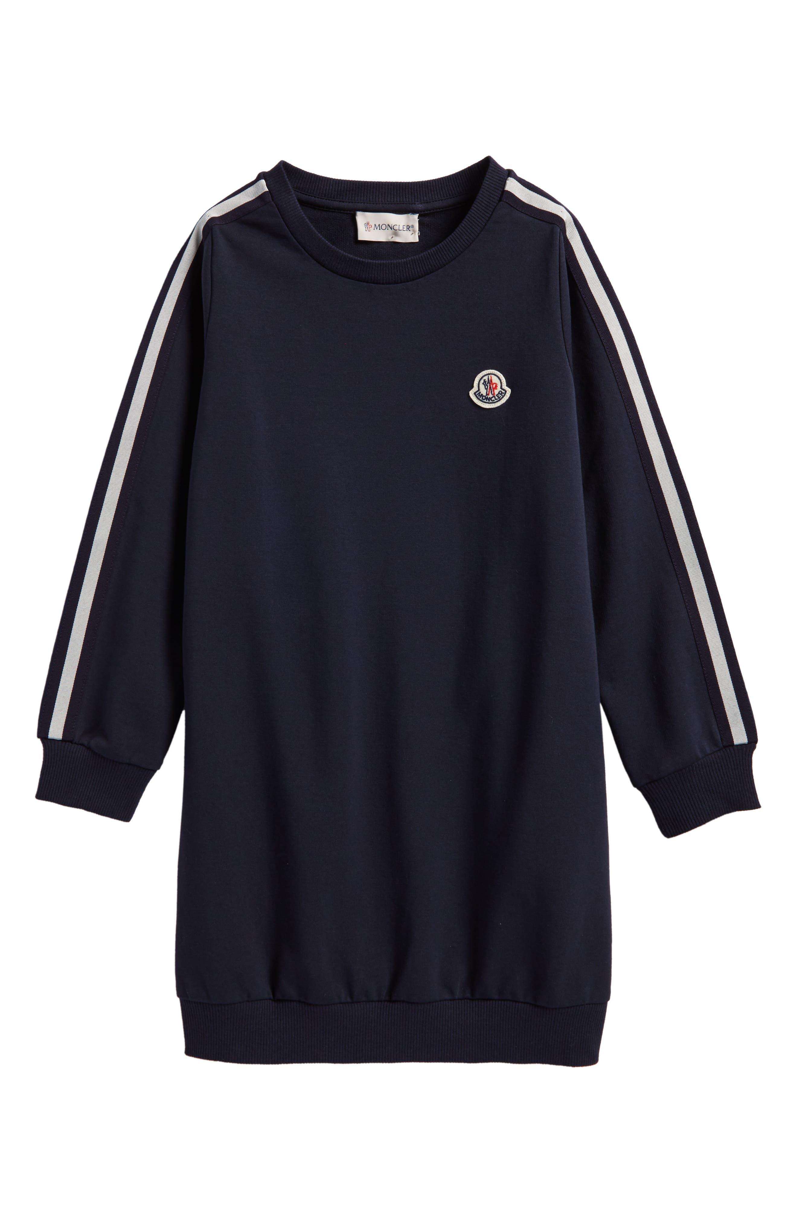 Alternate Image 1 Selected - Moncler Sweatshirt Dress (Little Girls & Big Girls)