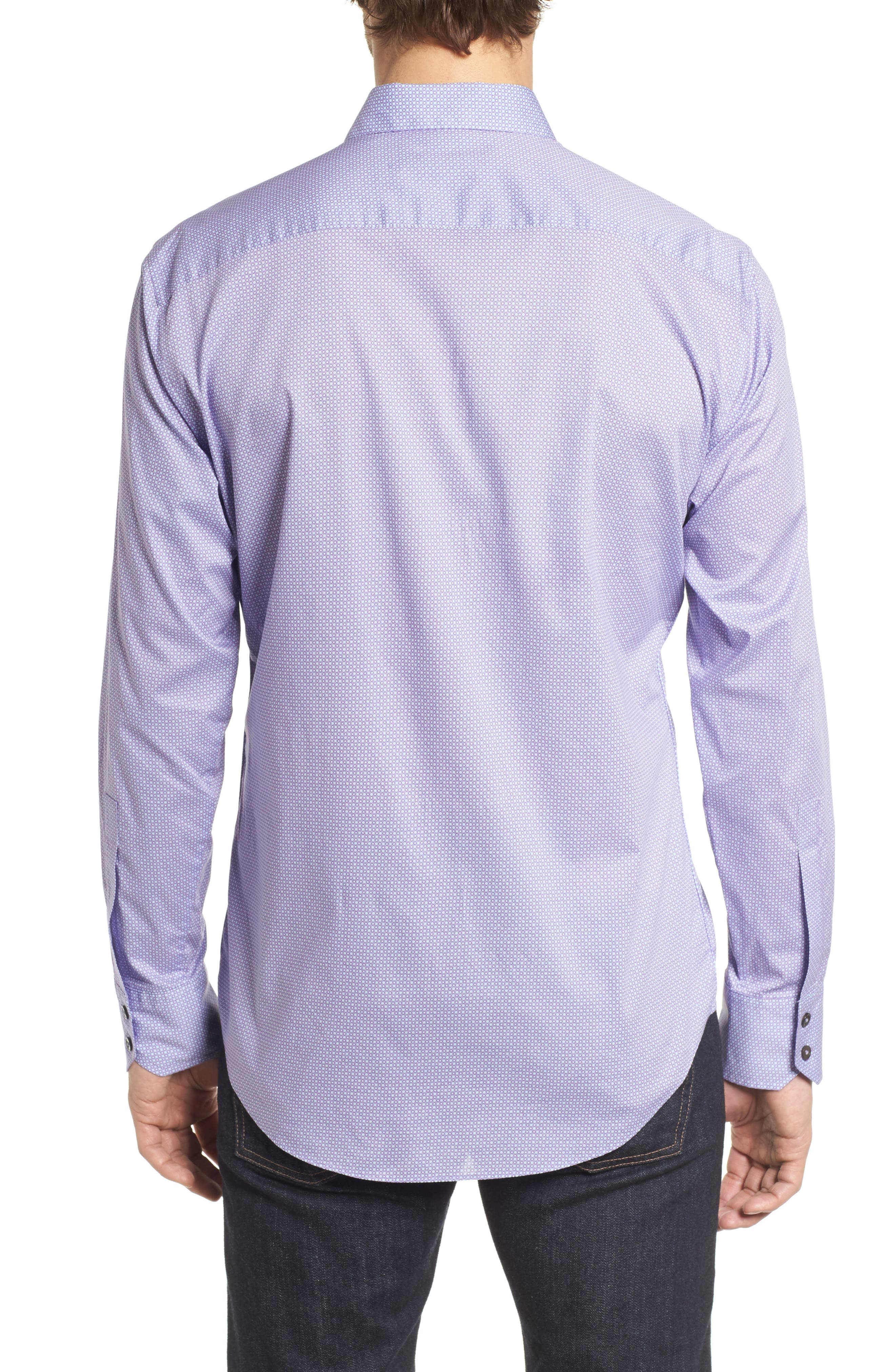 O'Malley Circle Print Sport Shirt,                             Alternate thumbnail 2, color,                             Purple