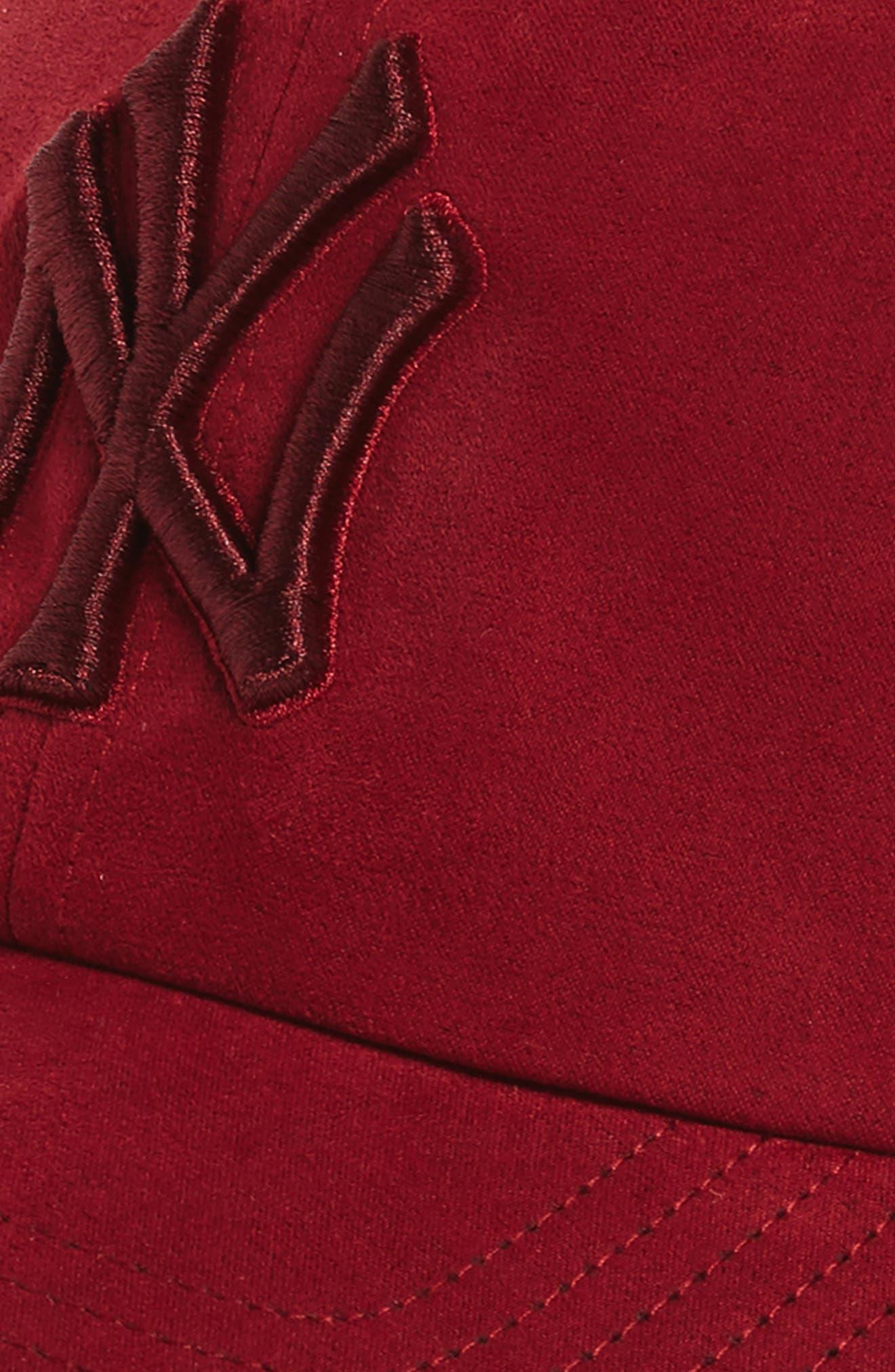 New York Yankees Baseball Cap,                             Alternate thumbnail 3, color,                             Maroon