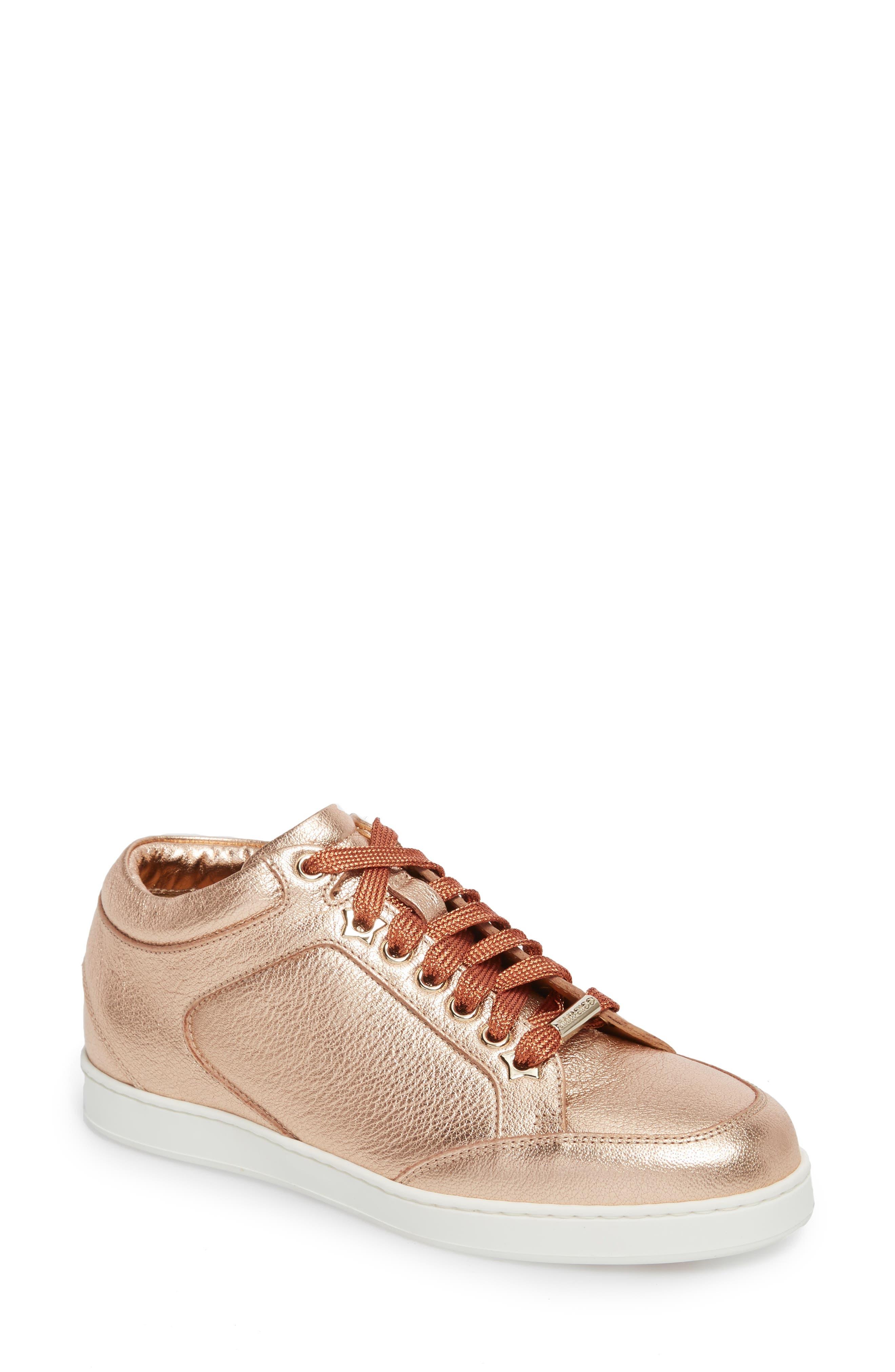 Jimmy Choo Miami Metallic Sneaker (Women)