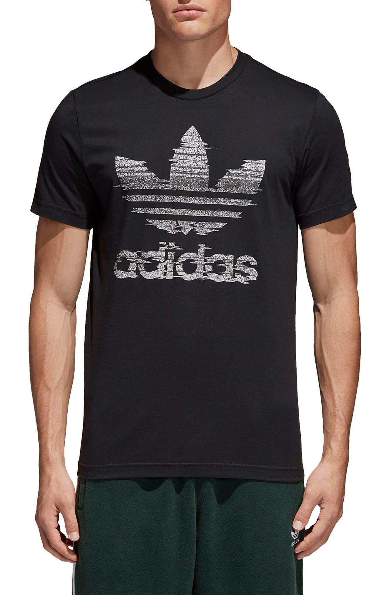 Traction Trefoil Graphic T-Shirt,                             Main thumbnail 1, color,                             Black