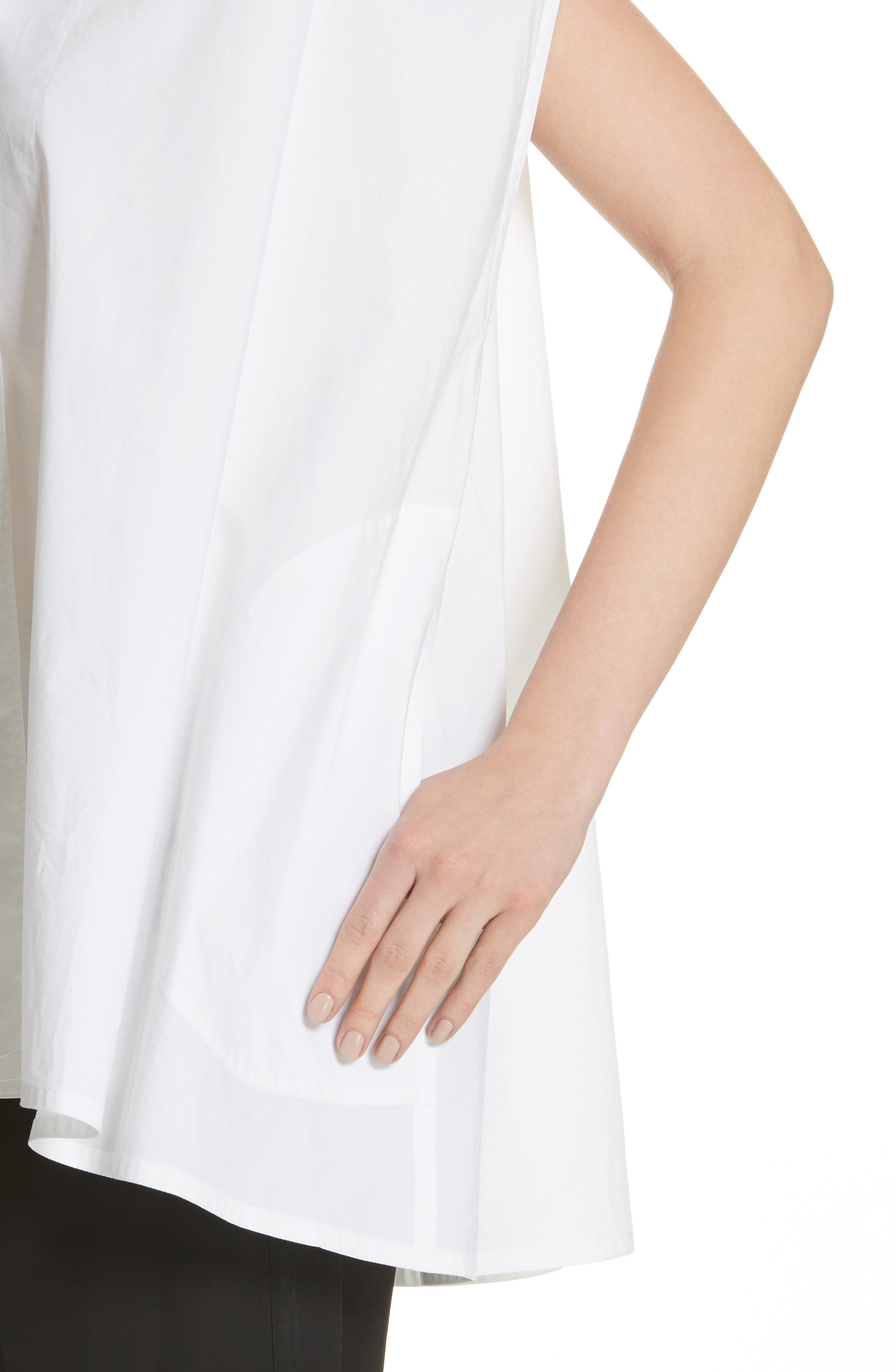 Alternate Image 4  - Sofie D'Hoore Sleeveless Cotton Blouse