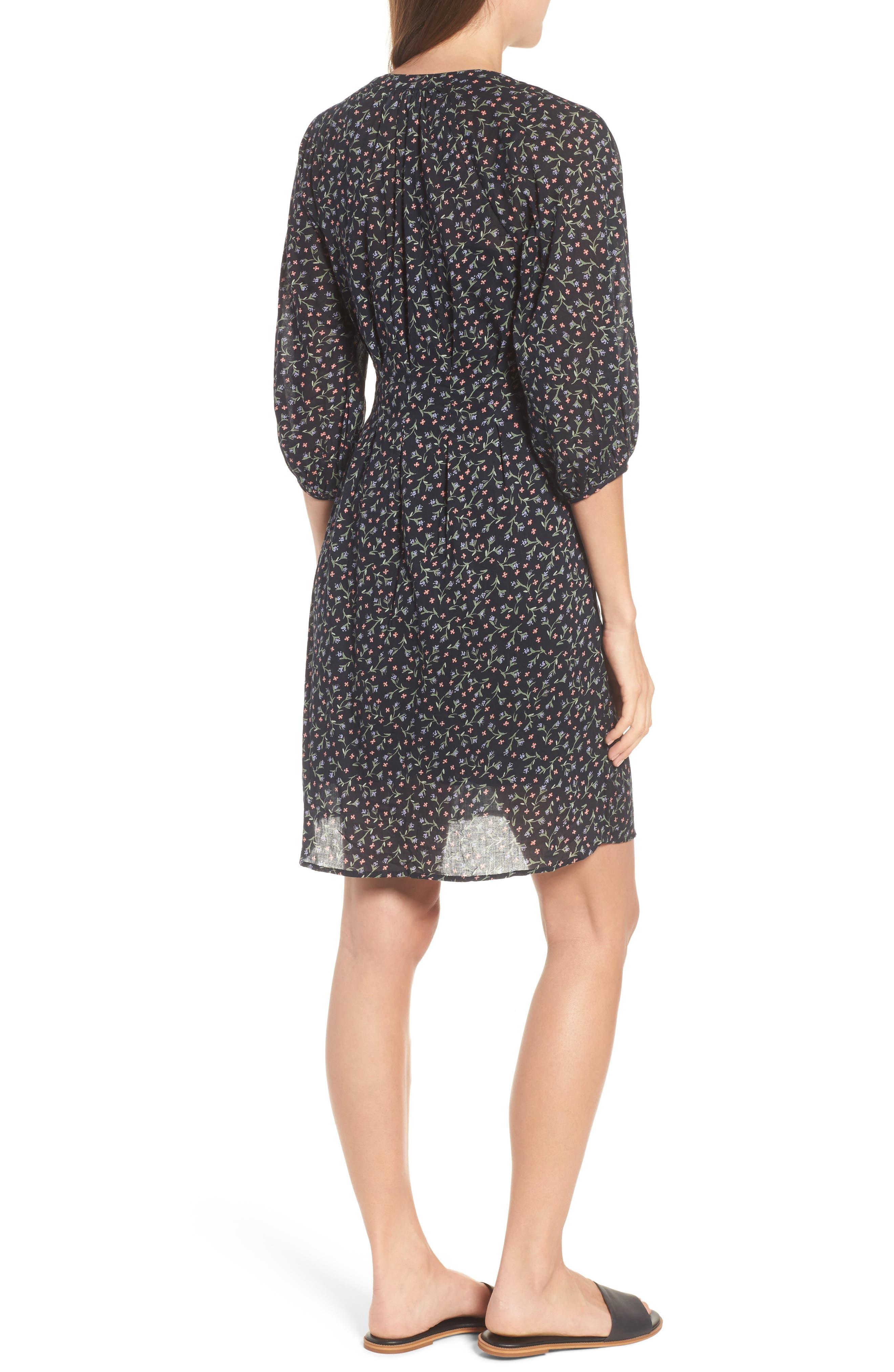 Printed Cotton Voile Dress,                             Alternate thumbnail 2, color,                             Toucan