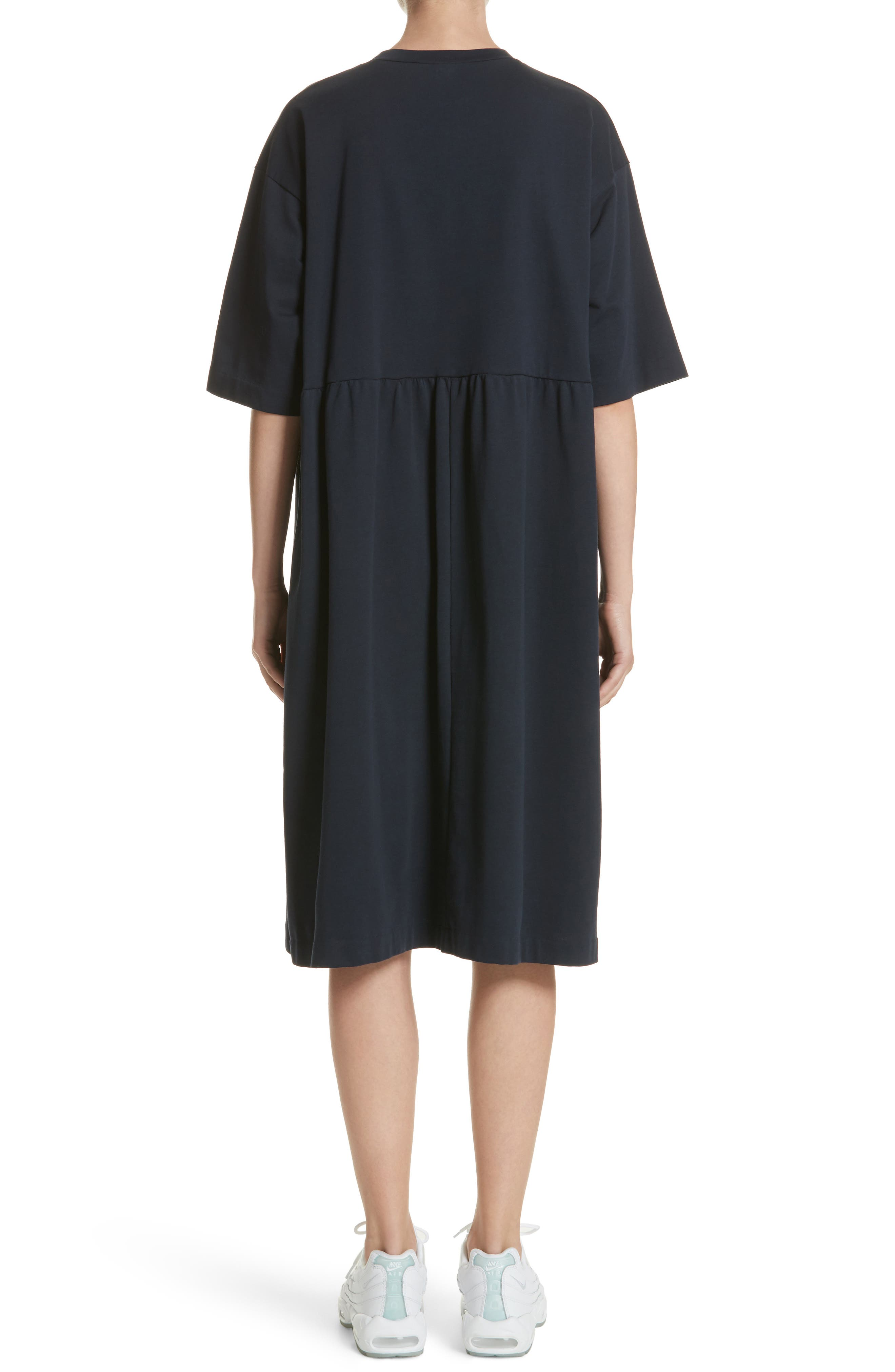 T-Shirt Dress,                             Alternate thumbnail 2, color,                             Navy