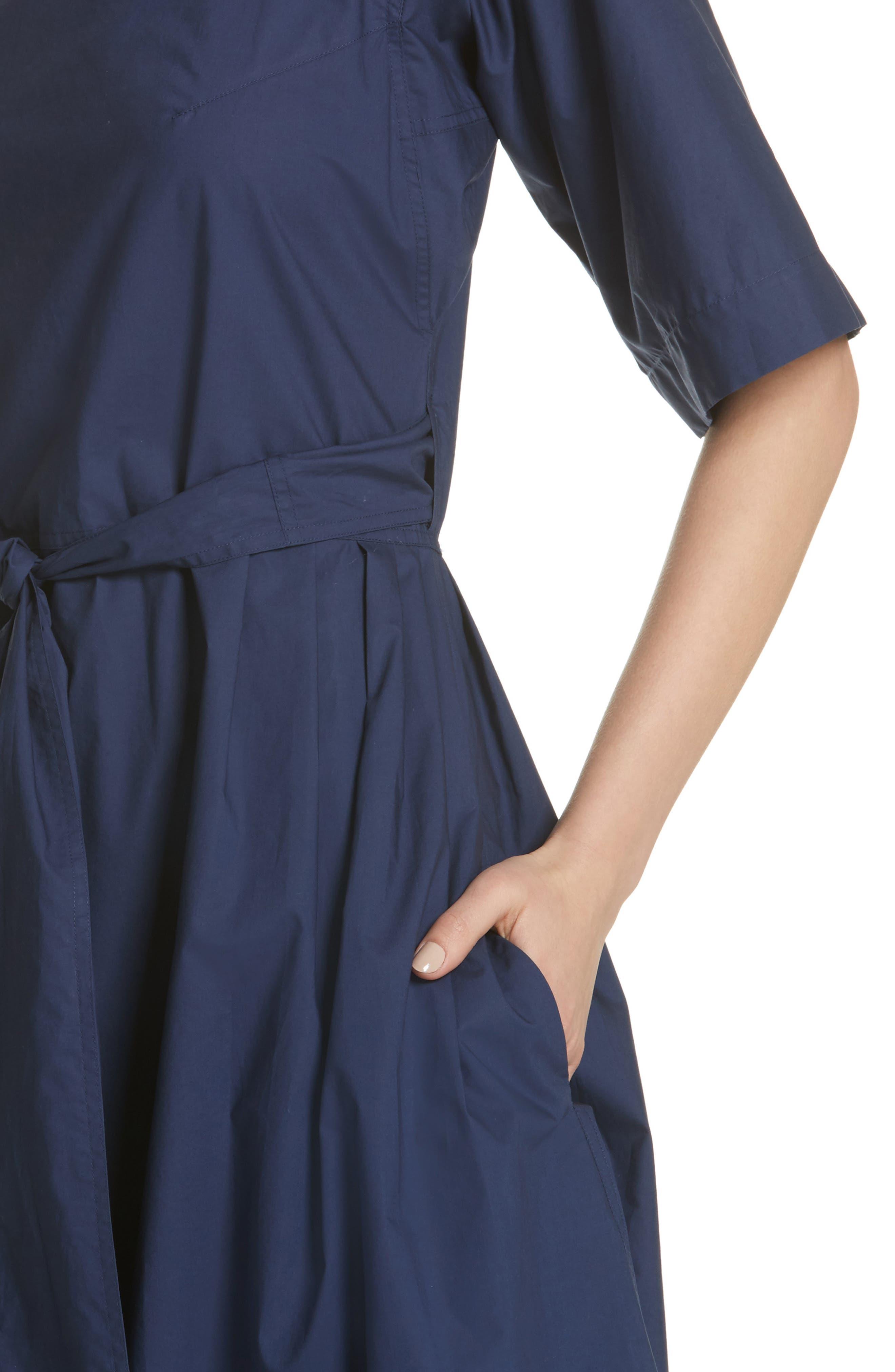 Tie Waist Dress,                             Alternate thumbnail 4, color,                             Matelot