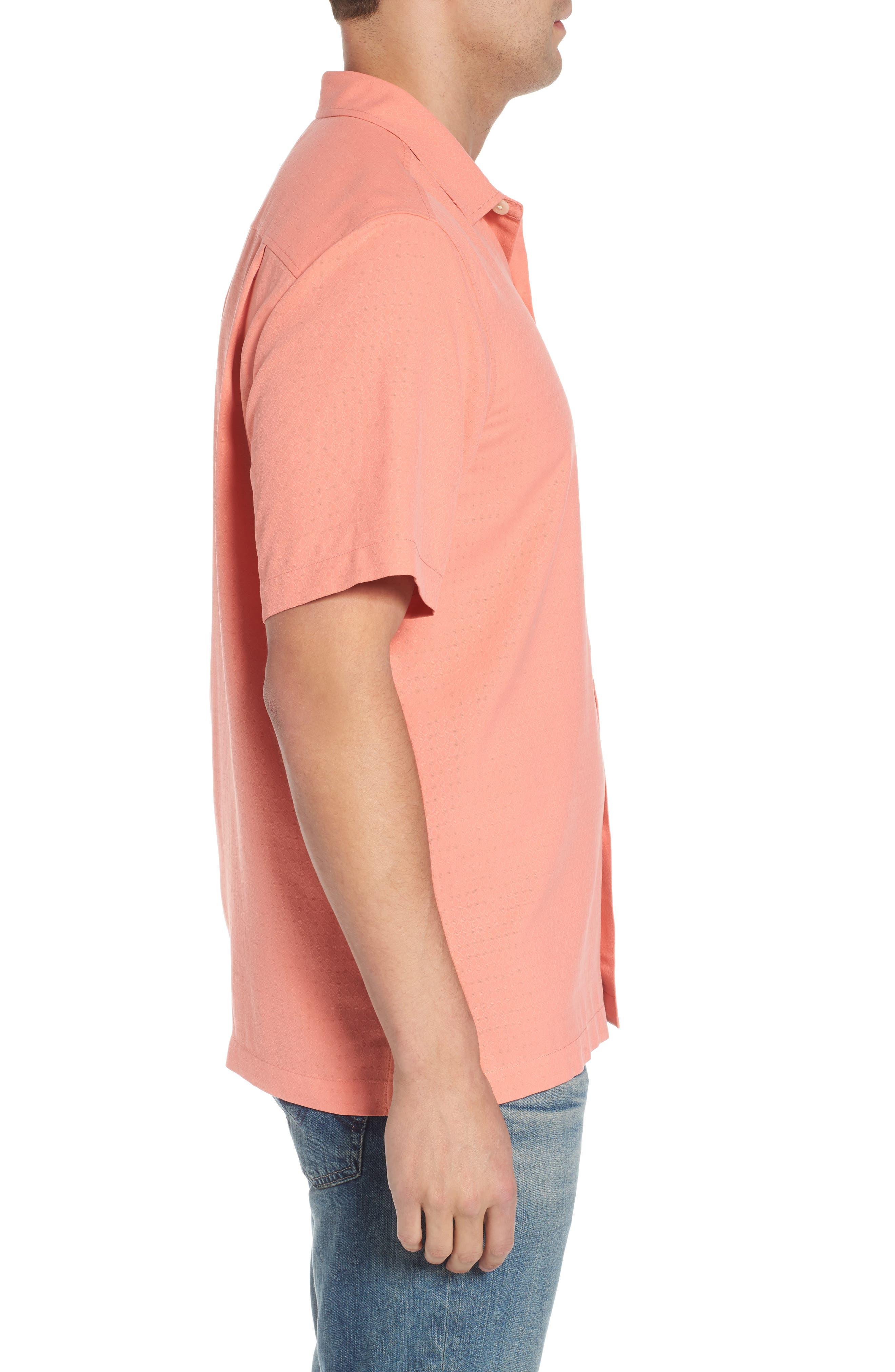 Alternate Image 3  - Tommy Bahama Oasis Jacquard Silk Sport Shirt