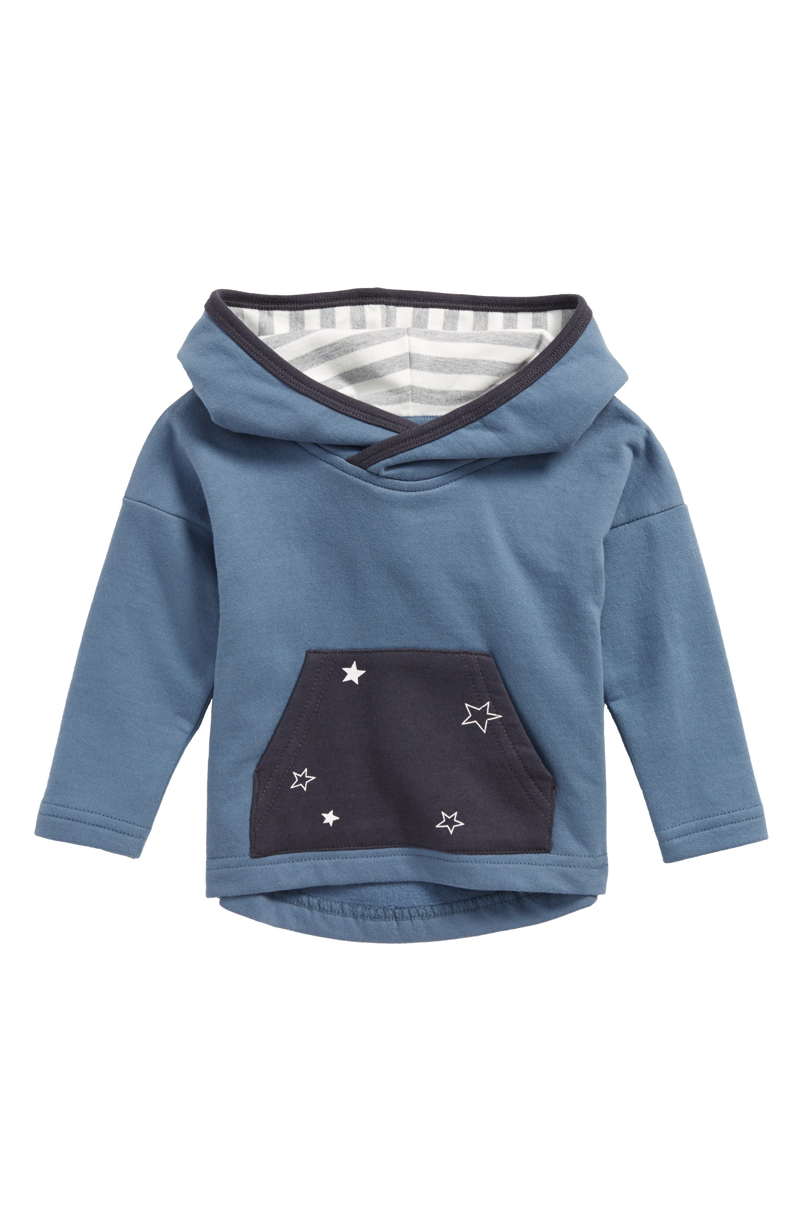 Alternate Image 1 Selected - City Mouse Star Pocket Hoodie (Baby Boys)