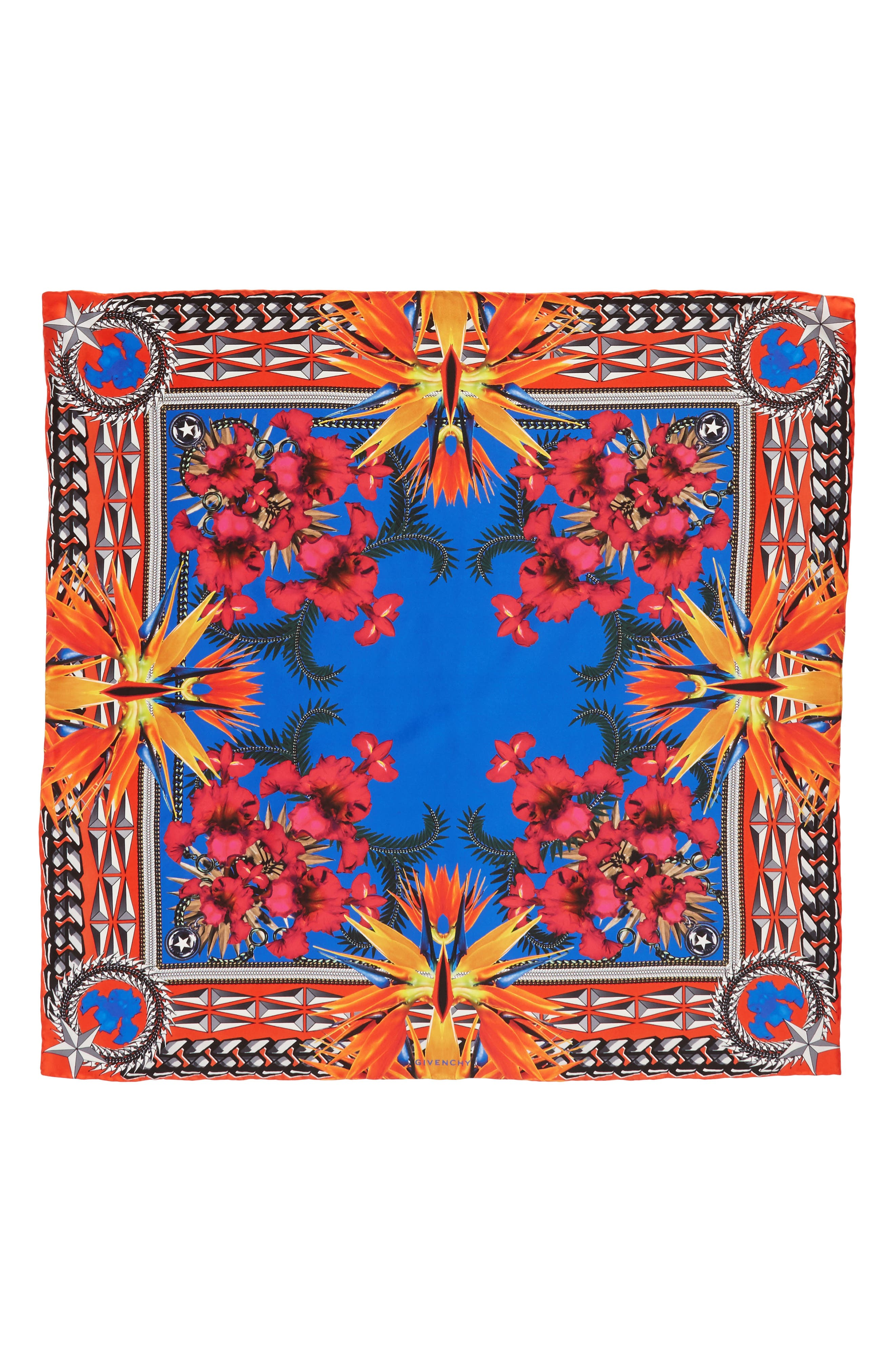 Alternate Image 1 Selected - Givenchy Iris Silk Twill Square Scarf