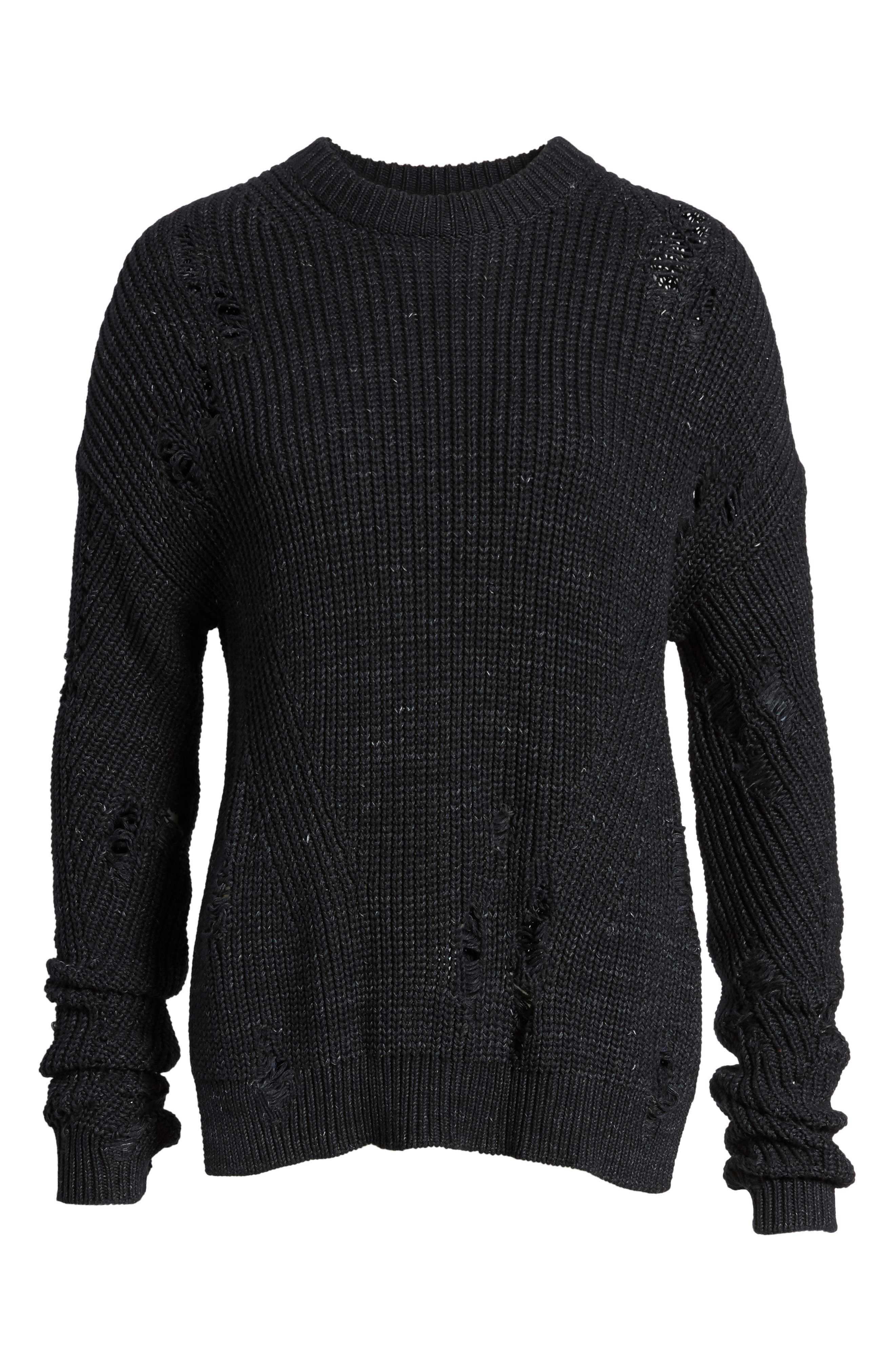 Finn Distressed Sweater,                             Alternate thumbnail 6, color,                             Speckled Midnight Sky