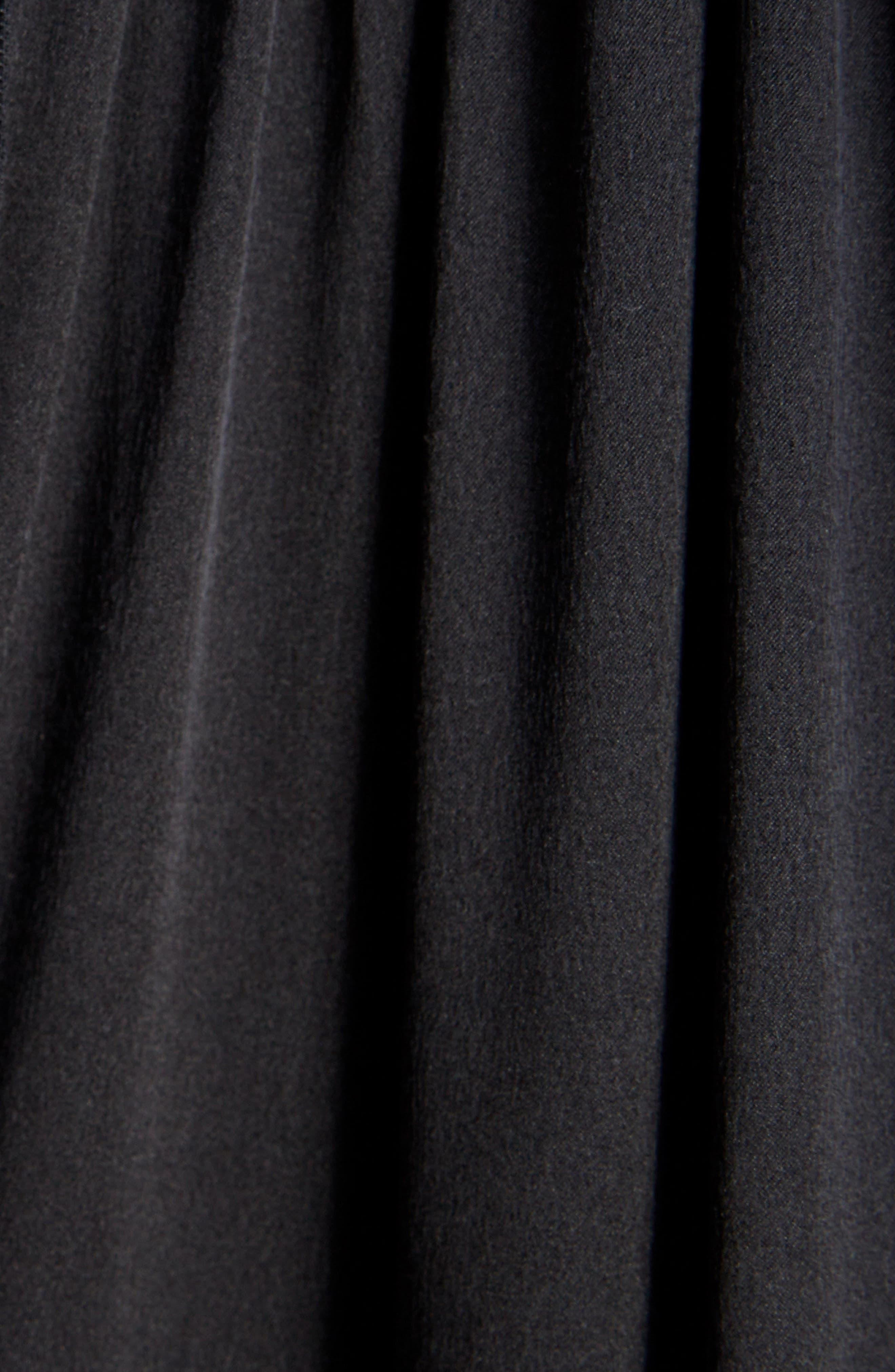 Frill Patchwork Dress,                             Alternate thumbnail 5, color,                             Black Multi