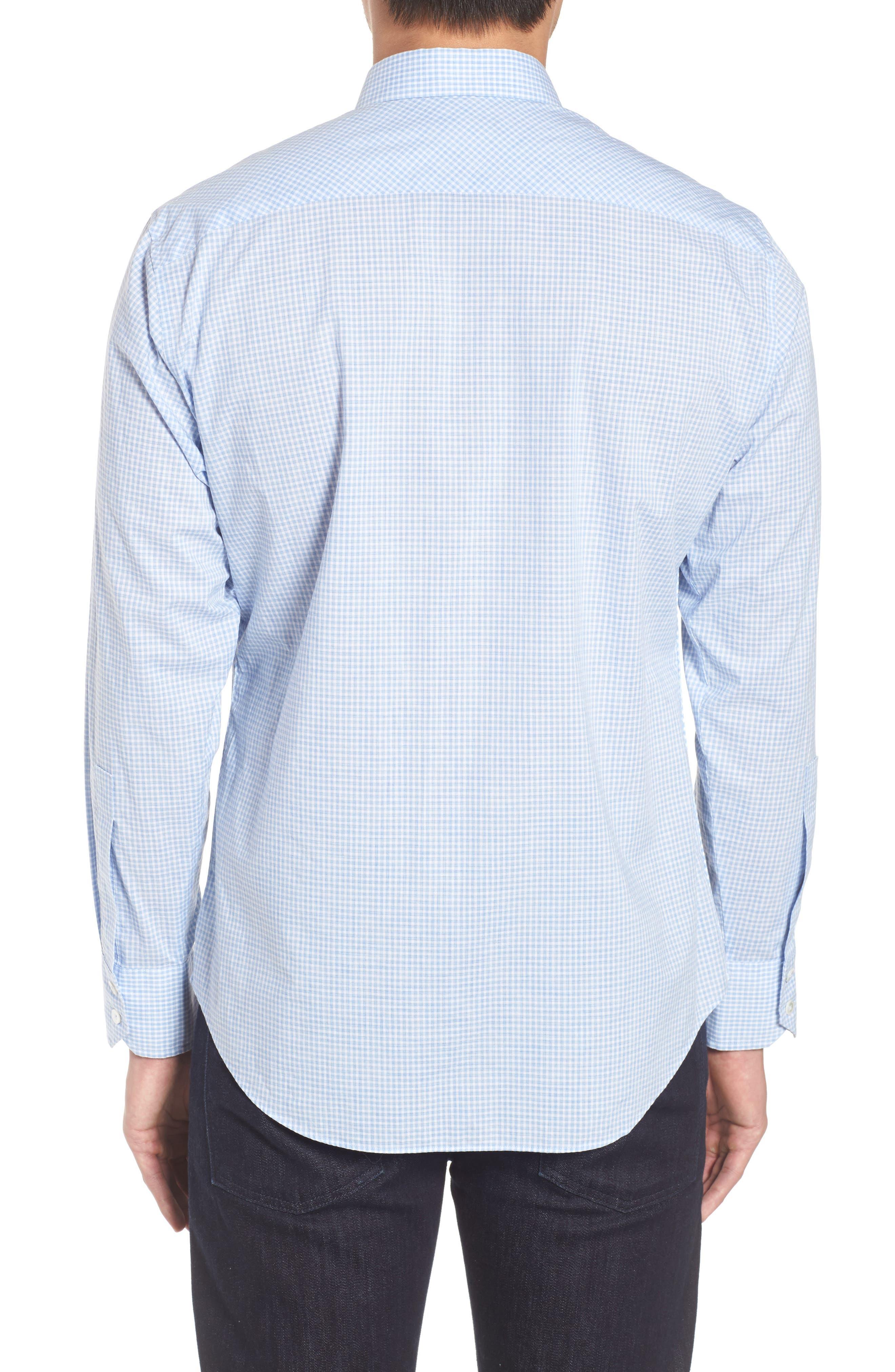 McGarry Gingham Sport Shirt,                             Alternate thumbnail 2, color,                             Light Blue
