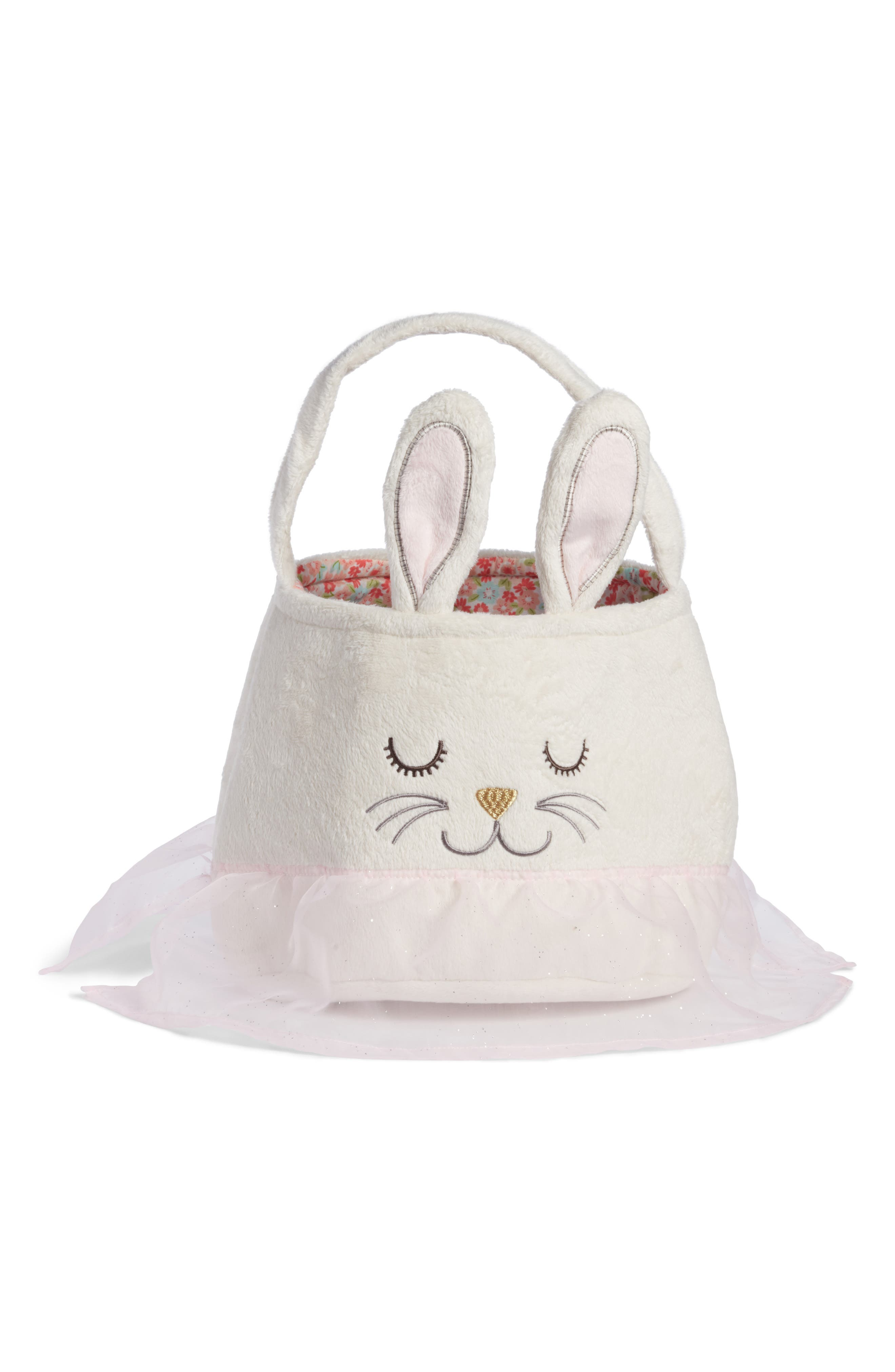 Bunny Easter Basket,                         Main,                         color, White