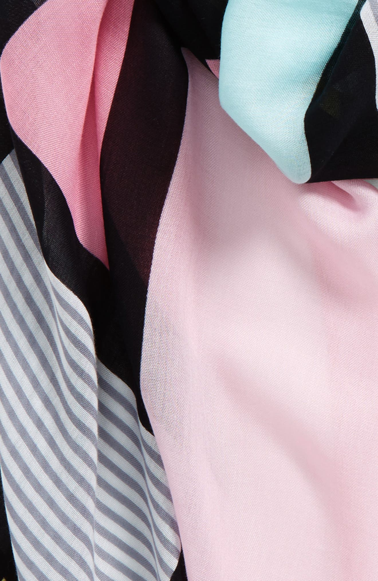 colorblock oblong scarf,                             Alternate thumbnail 3, color,                             Valentine Pink
