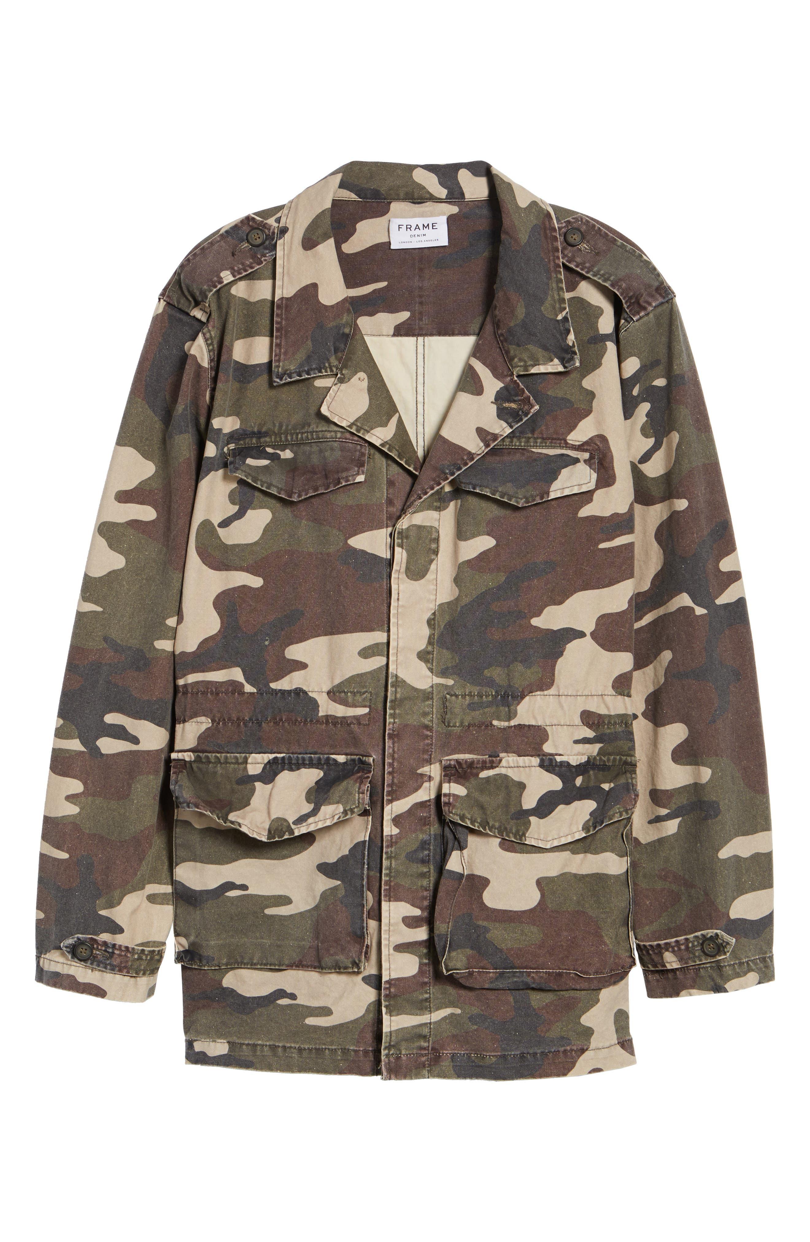 Alternate Image 6  - FRAME Denim Regular Fit Camo Field Jacket