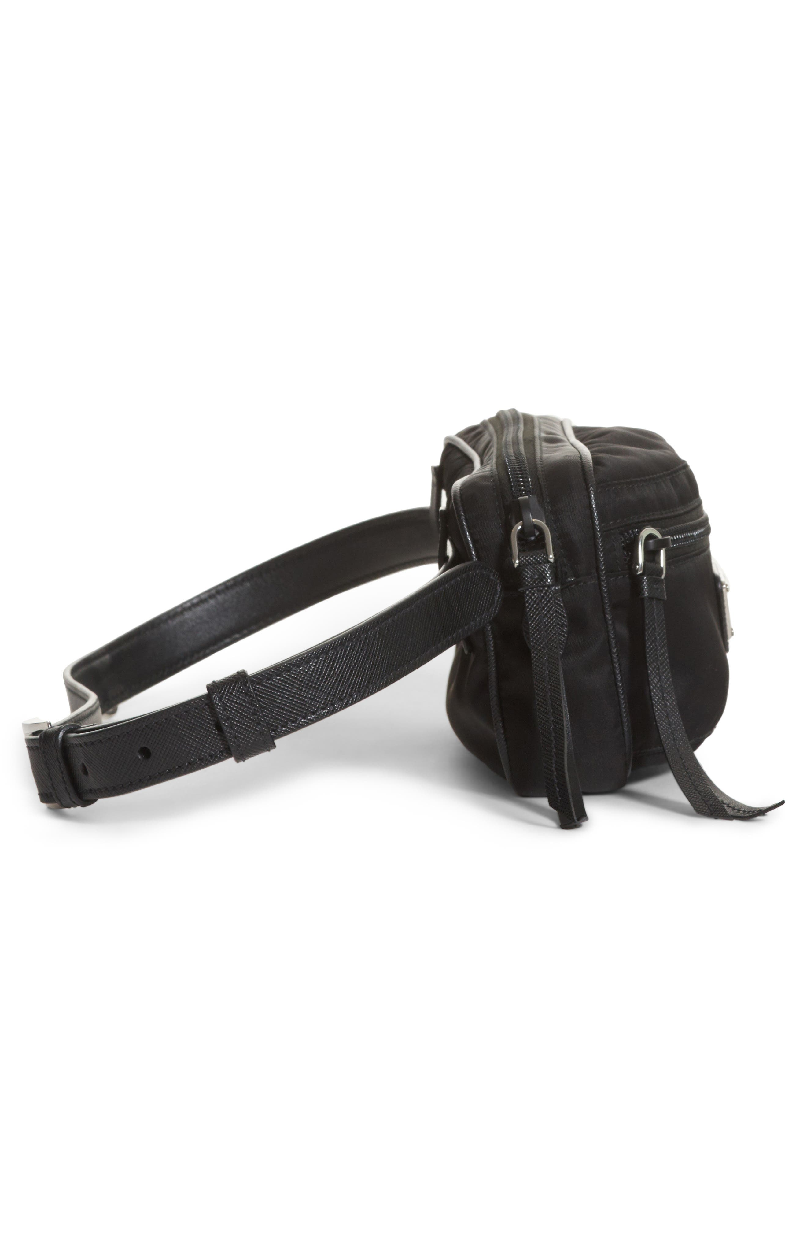 Small Nylon Belt Bag,                             Alternate thumbnail 3, color,                             Nero