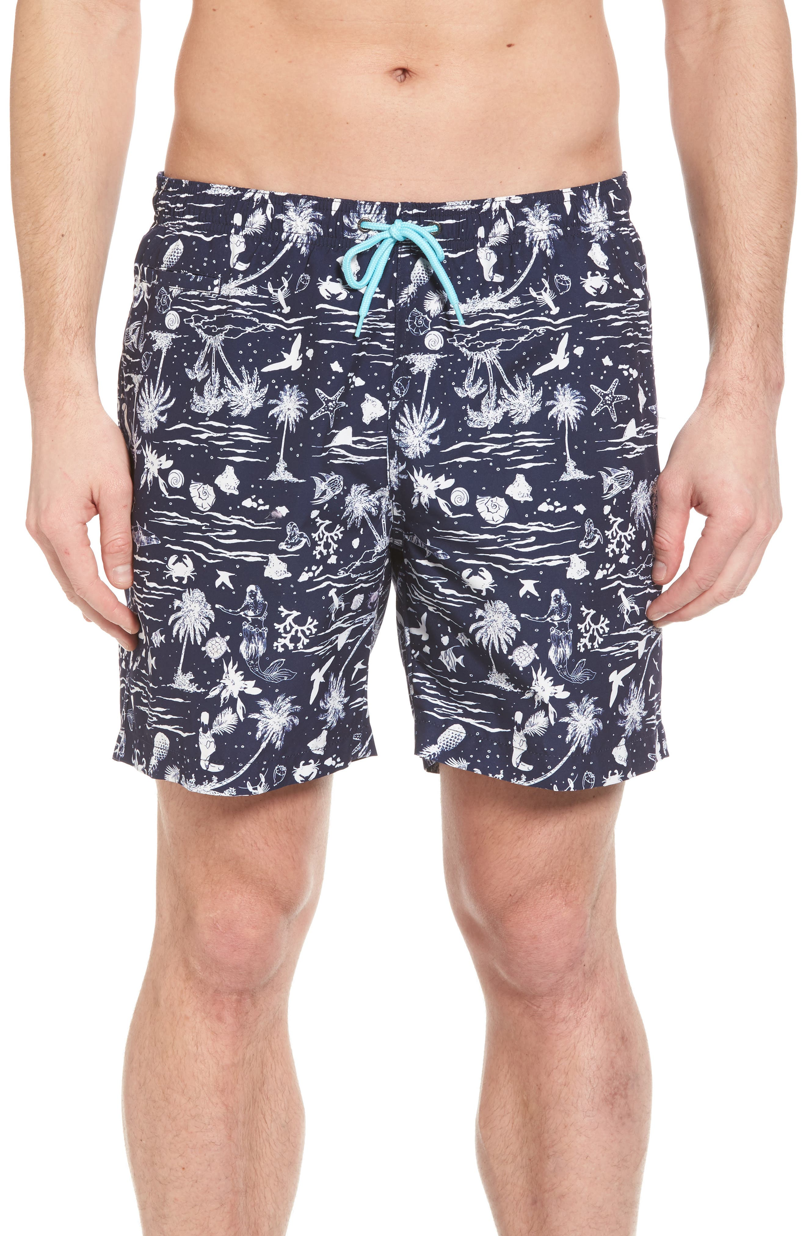 Trunks Surf & Swim Co. Swami Tropical Island Board Shorts