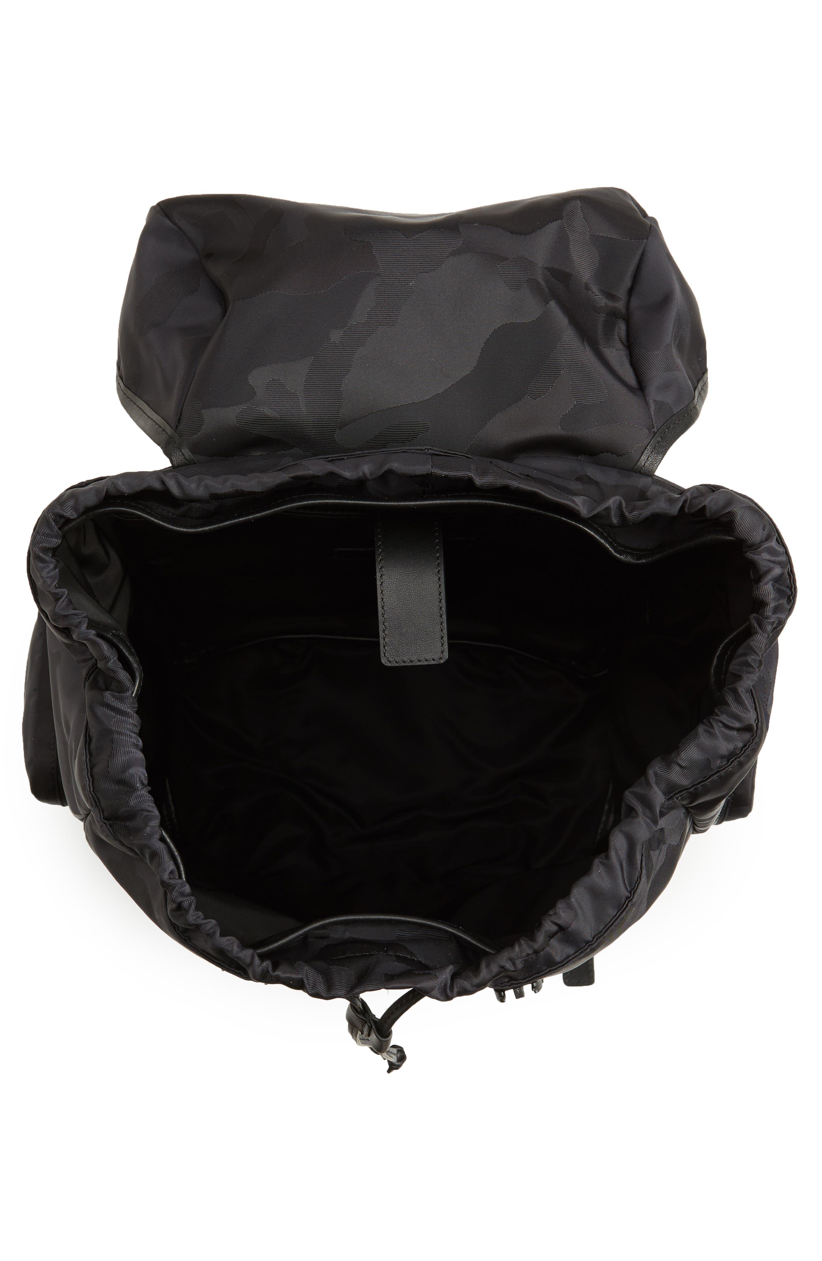 Camo Backpack,                             Alternate thumbnail 4, color,                             Black