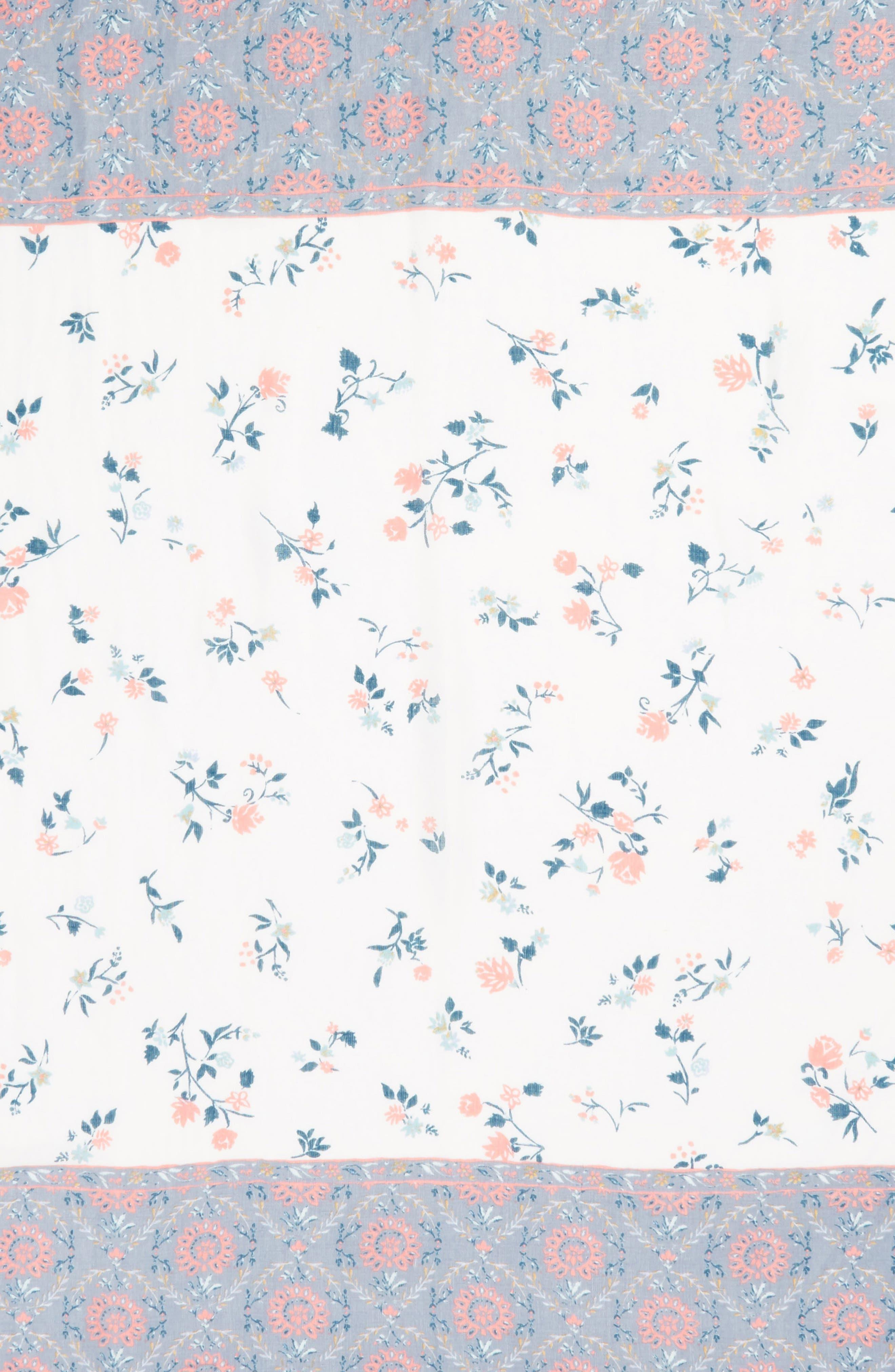 Mixed Print Scarf,                             Alternate thumbnail 4, color,                             Blue Moonlight Blossom