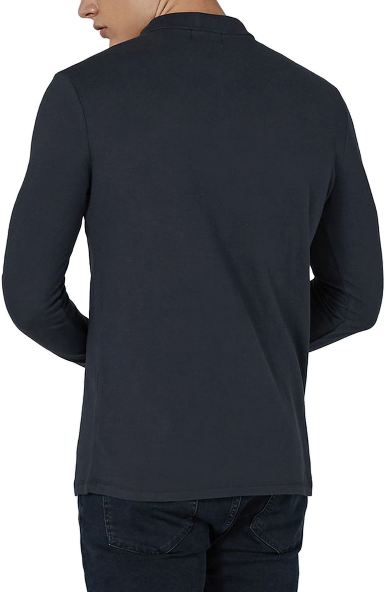 Alternate Image 2  - Topman Leon Muscle Fit Long Sleeve Polo