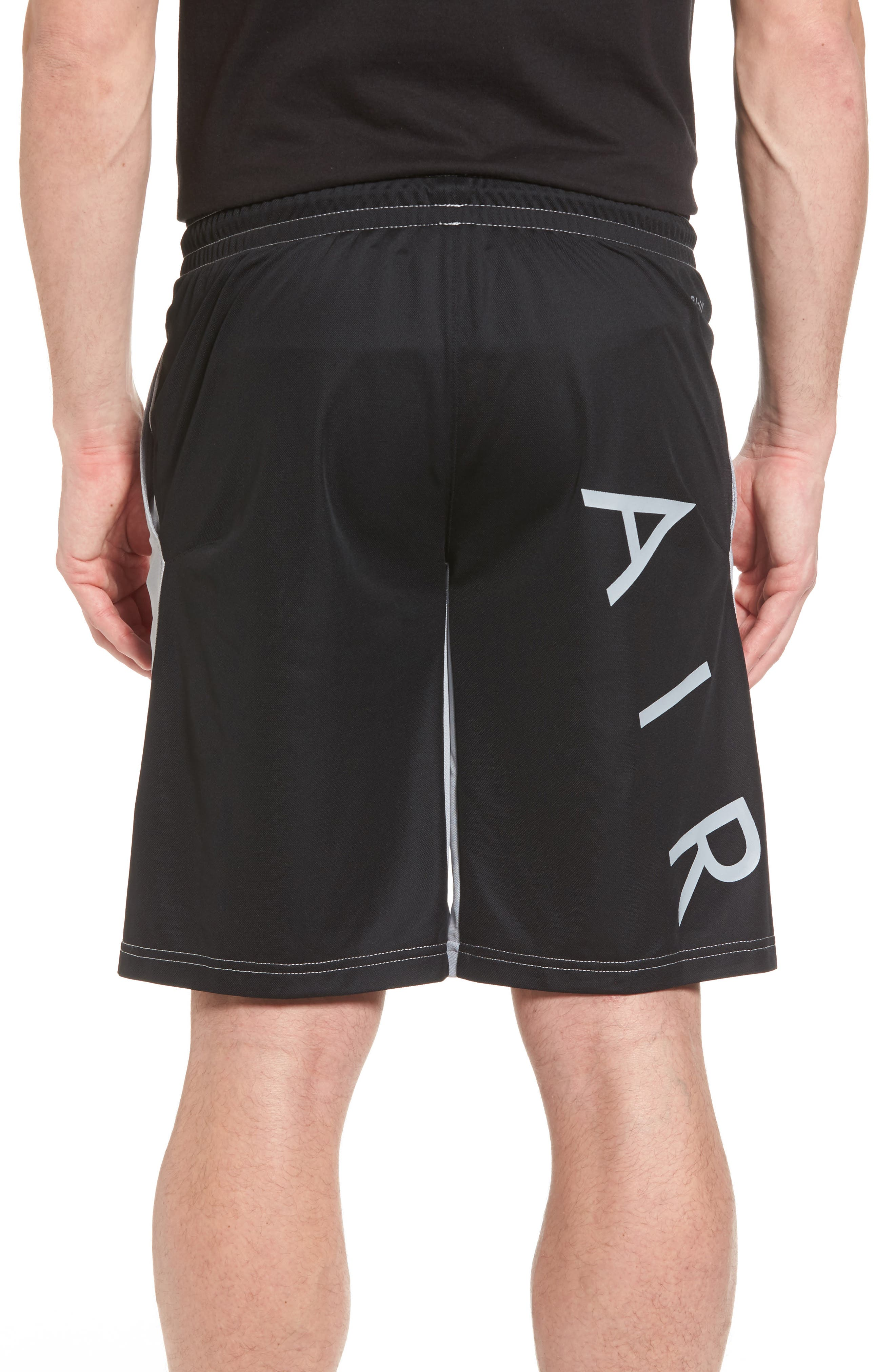 Flight Basketball Shorts,                             Alternate thumbnail 2, color,                             Wolf Grey/ Black/ Black