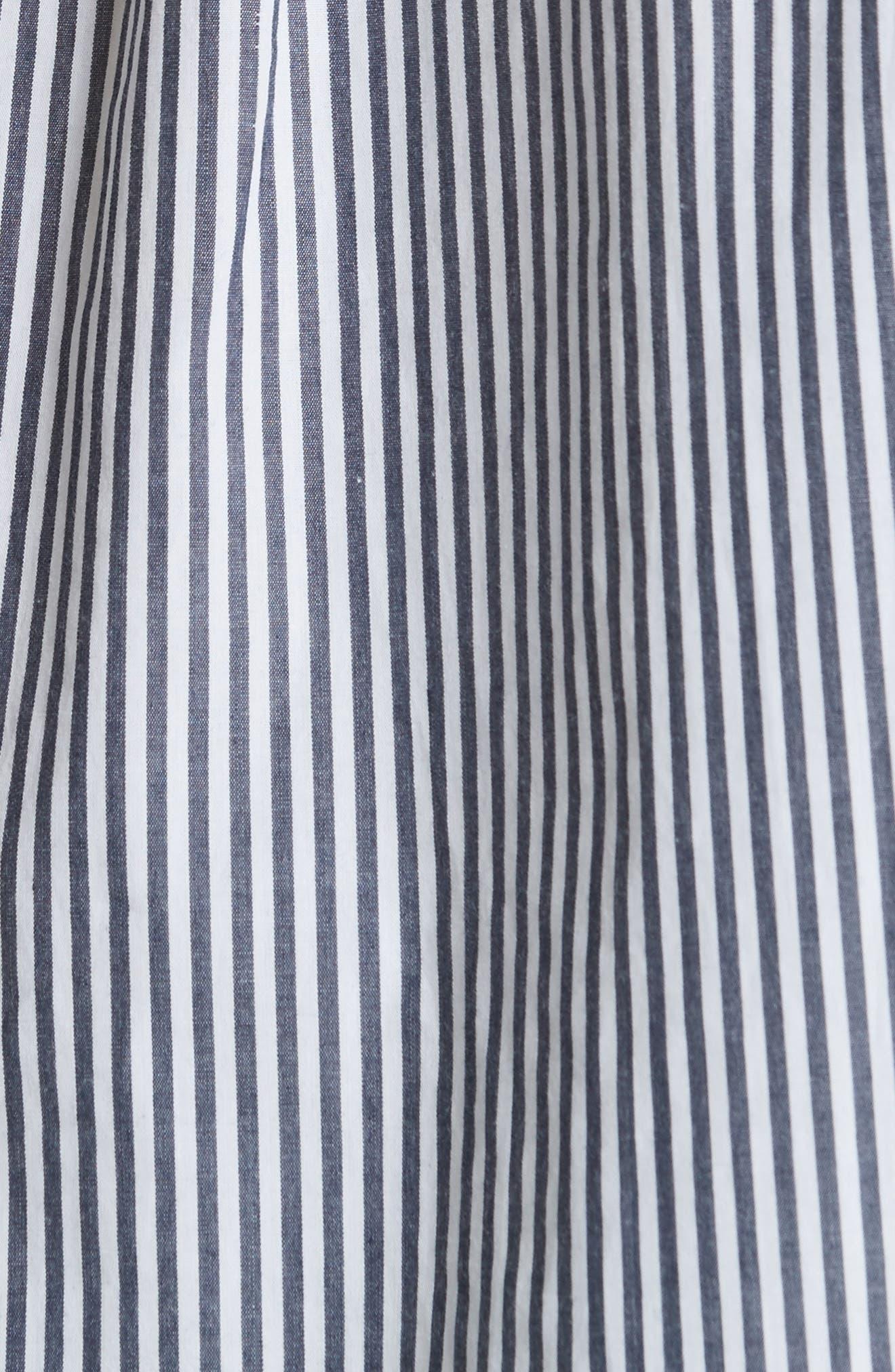 Anjanique Spread Collar Top,                             Alternate thumbnail 5, color,                             Dark Navy