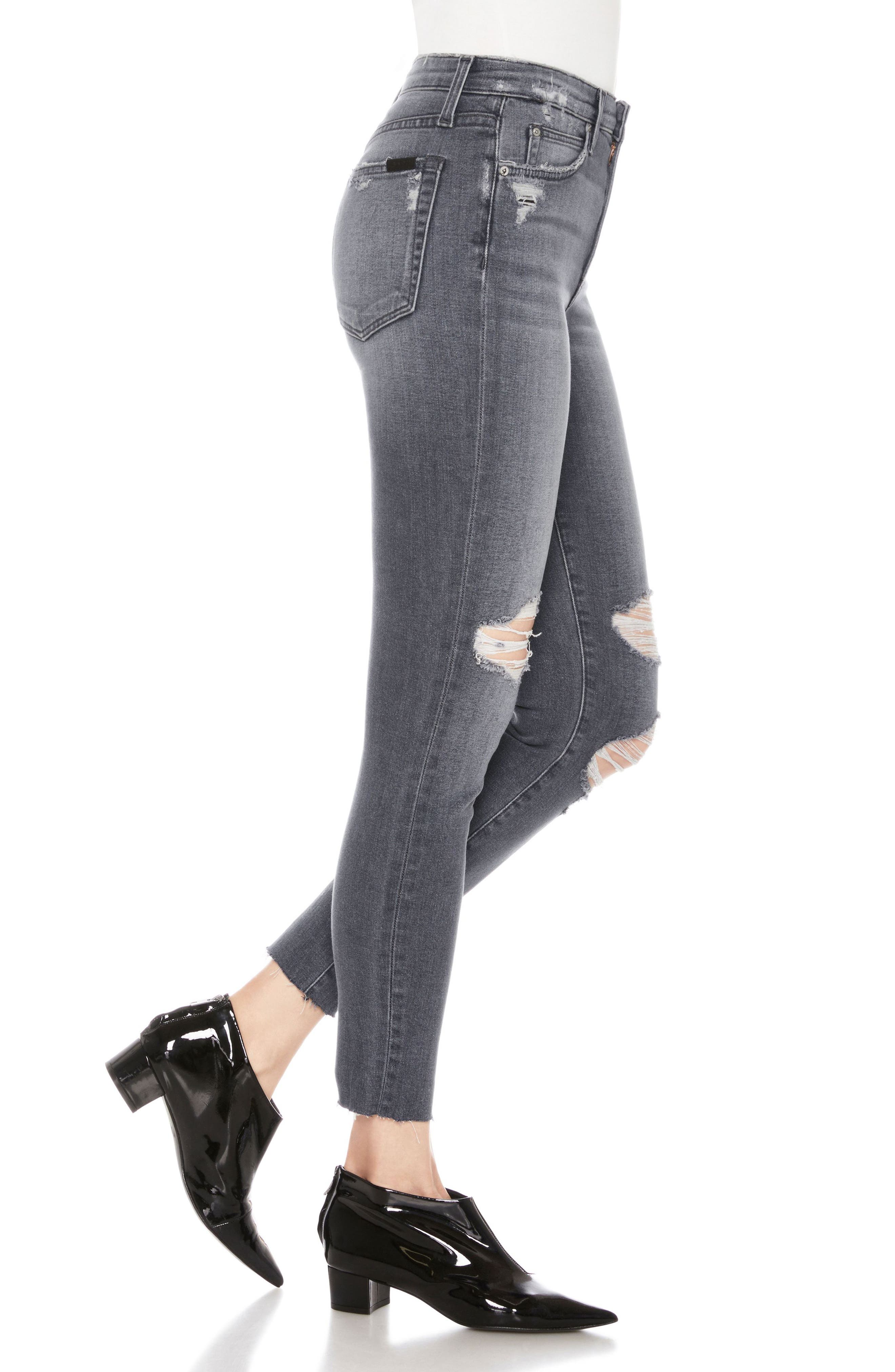 Charlie High Waist Ankle Skinny Jeans,                             Alternate thumbnail 3, color,                             Miray