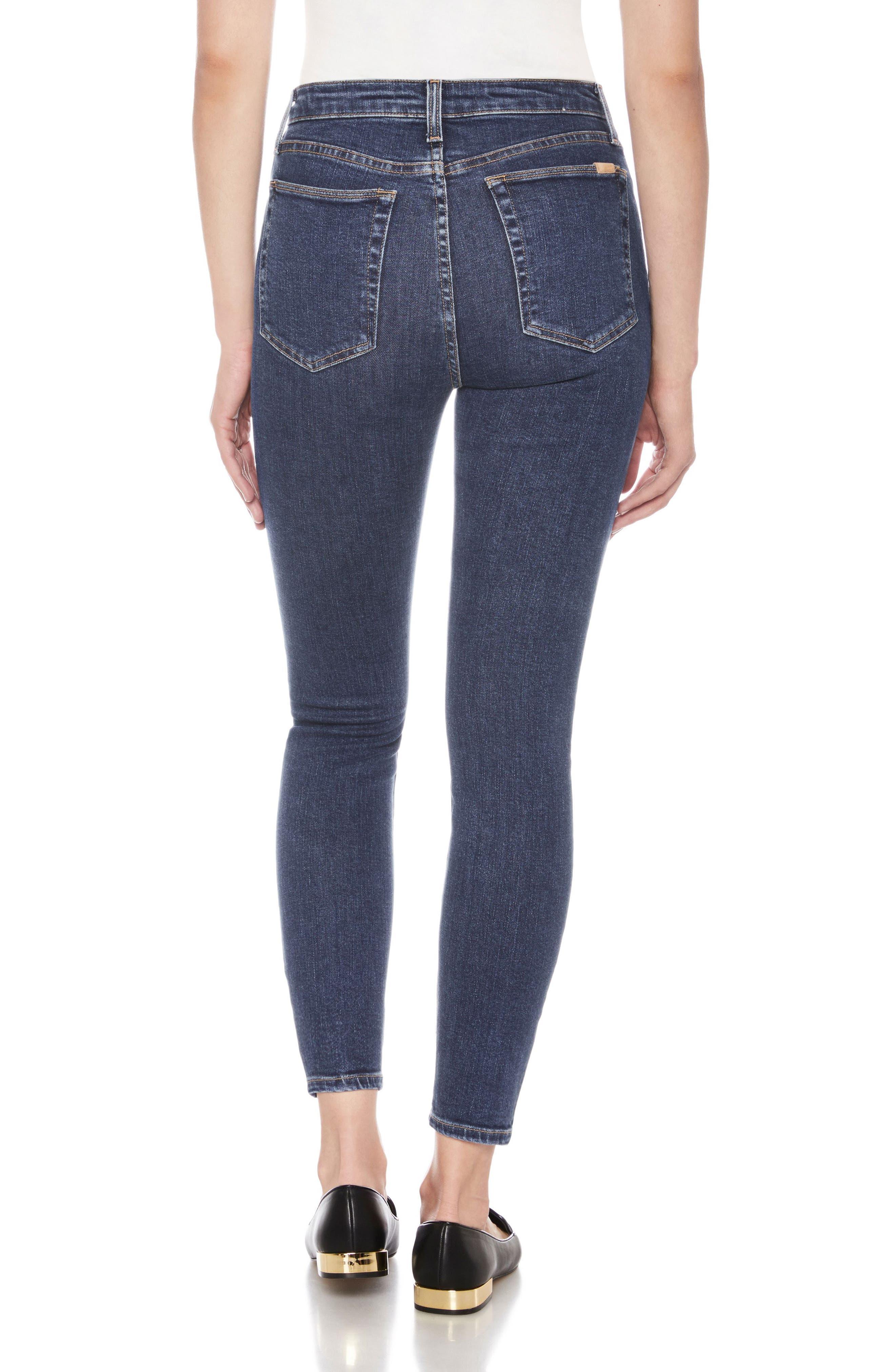 Bella High Waist Ankle Skinny Jeans,                             Alternate thumbnail 2, color,                             Austen