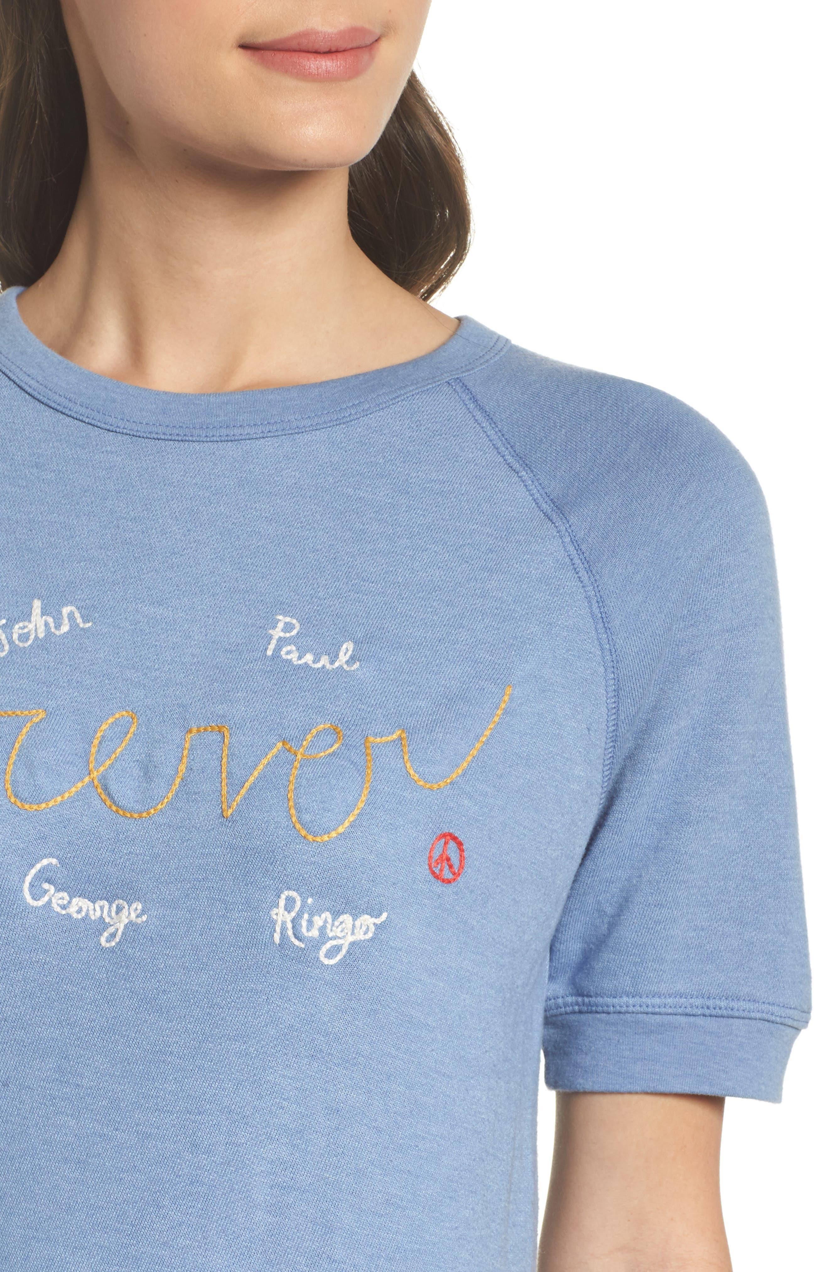 Alternate Image 5  - Junk Food Forever Short Sleeve Sweatshirt (Nordstrom Exclusive)