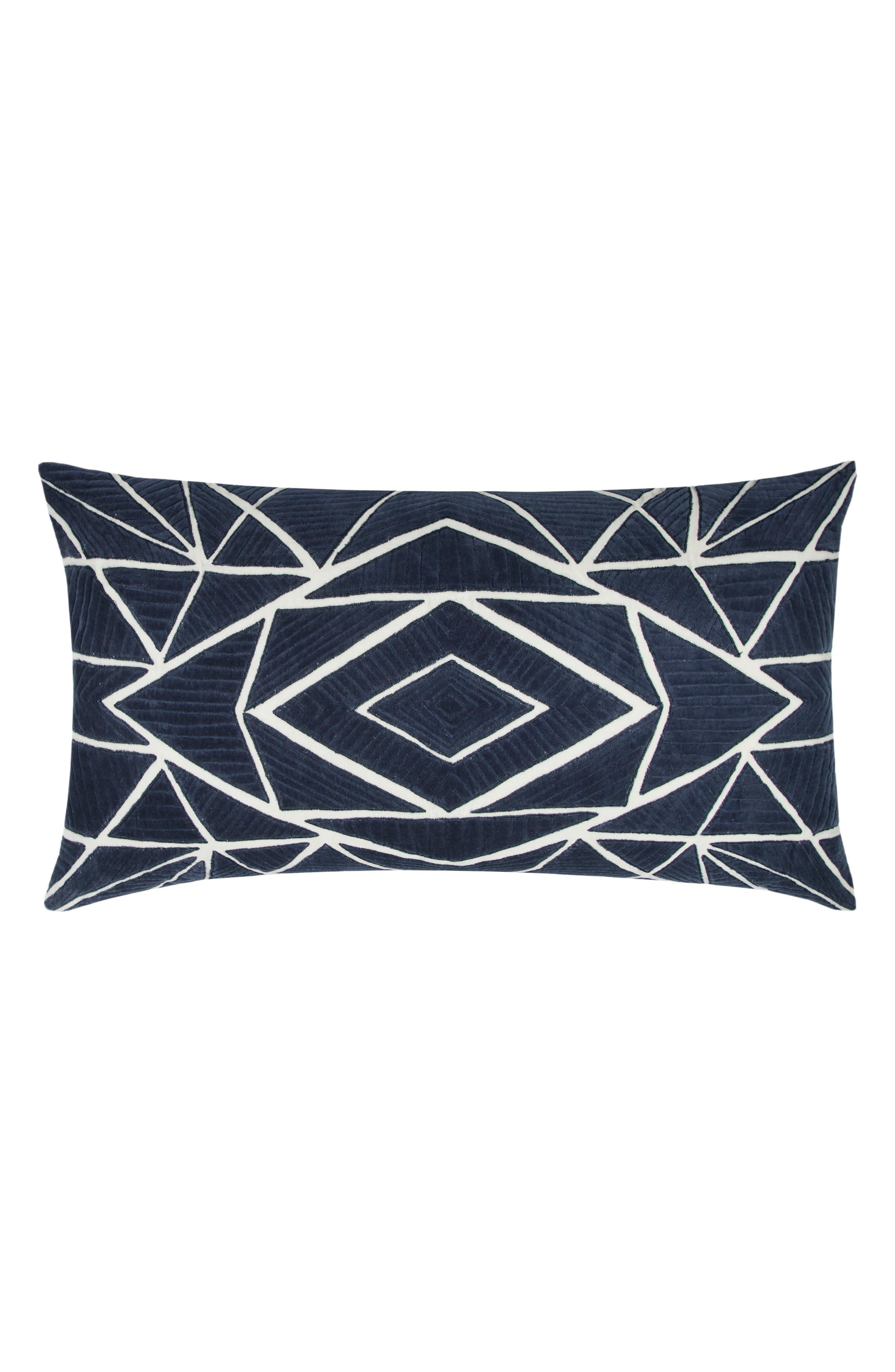 Geometric Accent Pillow,                         Main,                         color, Indigo