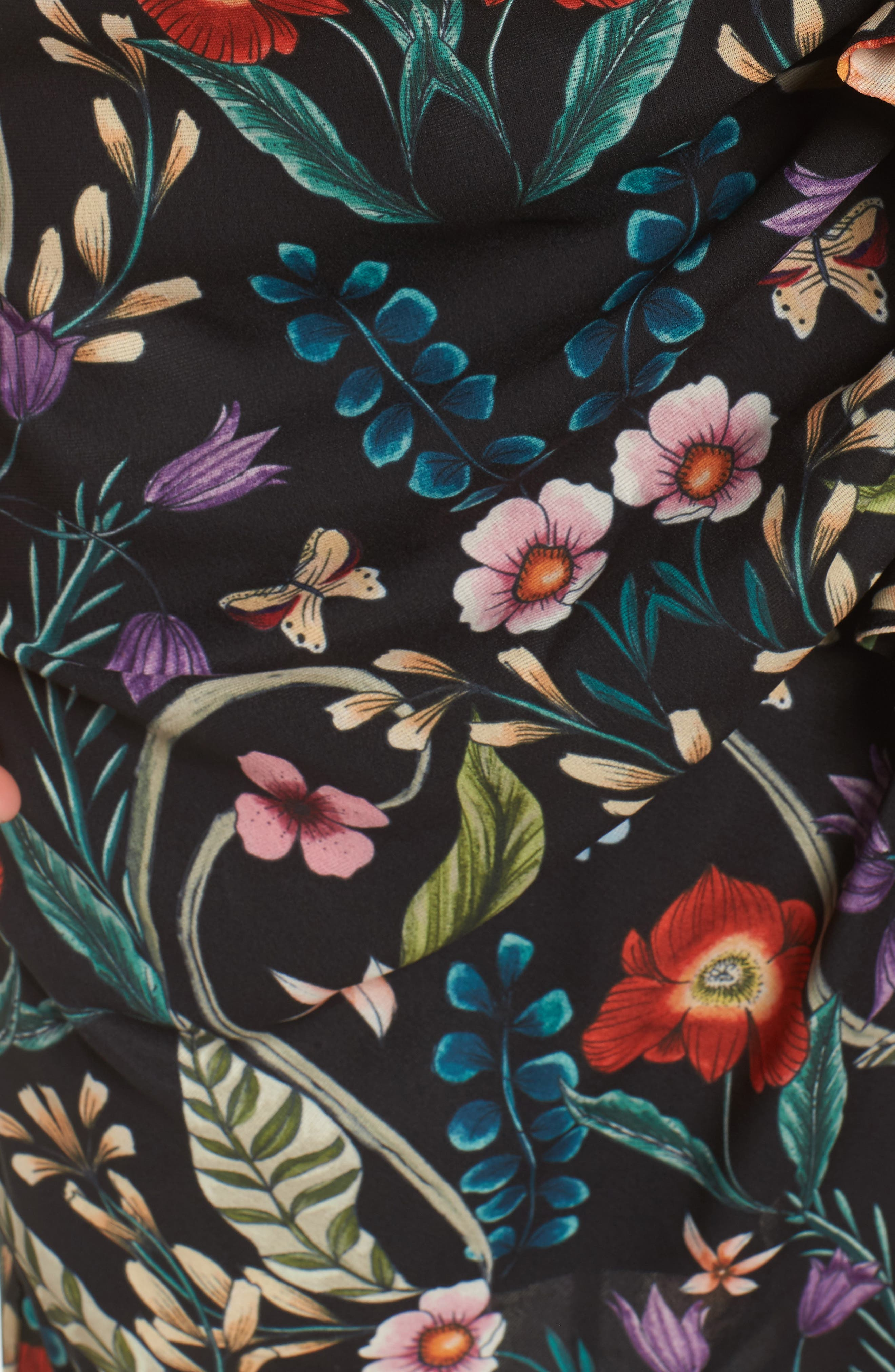 Gardenia Ruffle Dress,                             Alternate thumbnail 5, color,                             Print Dark