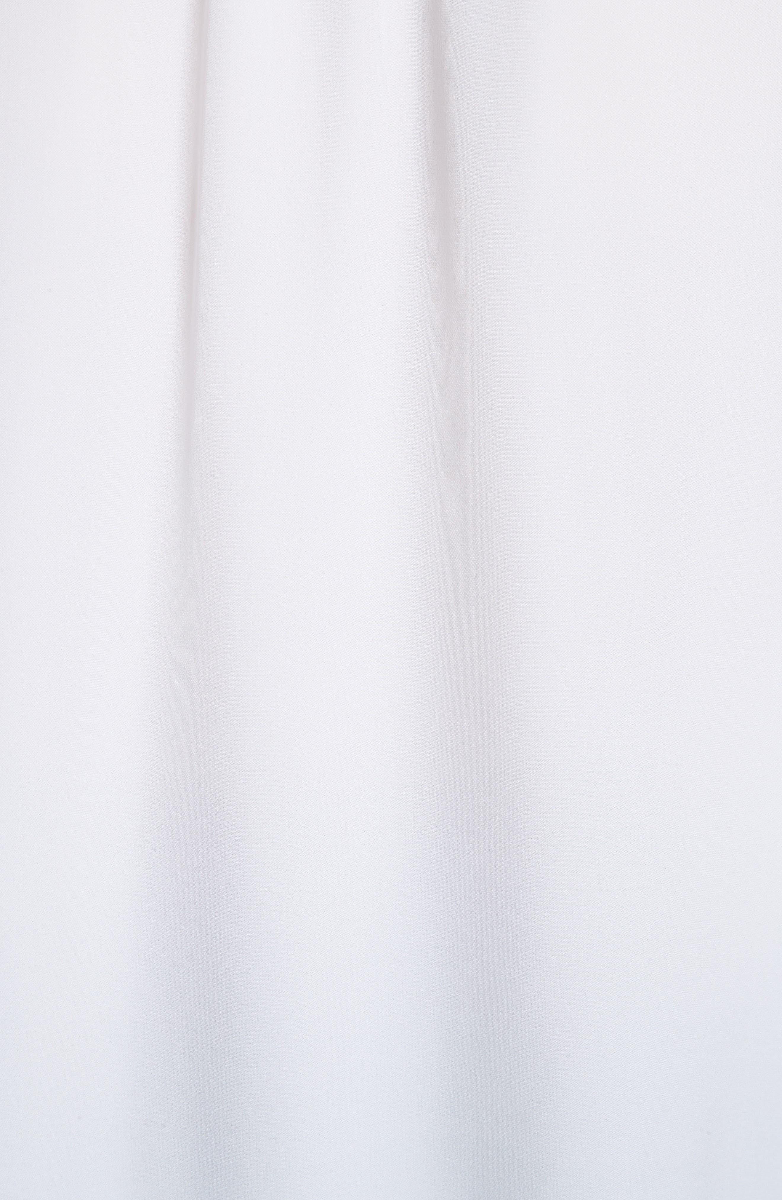 Tie Detail Silk Poet Blouse,                             Alternate thumbnail 5, color,                             Optic White
