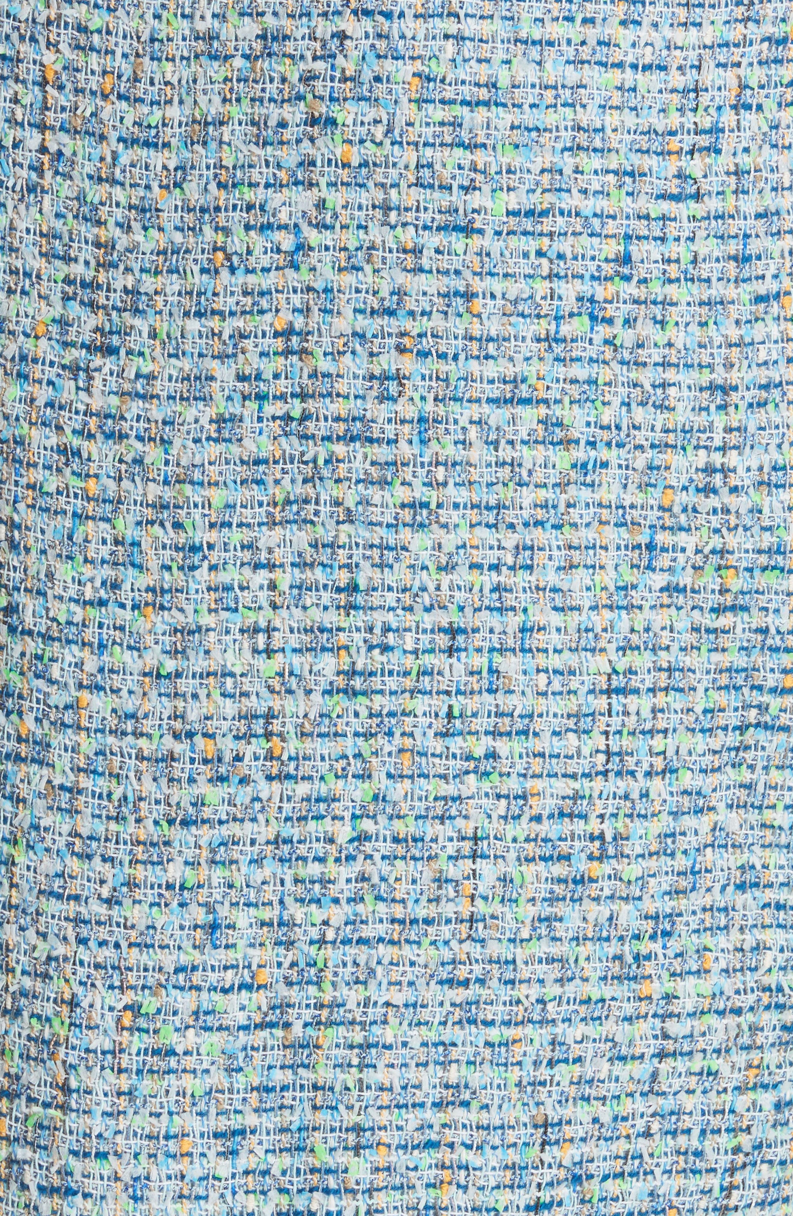 Tweed Wrap Skirt,                             Alternate thumbnail 5, color,                             Blue