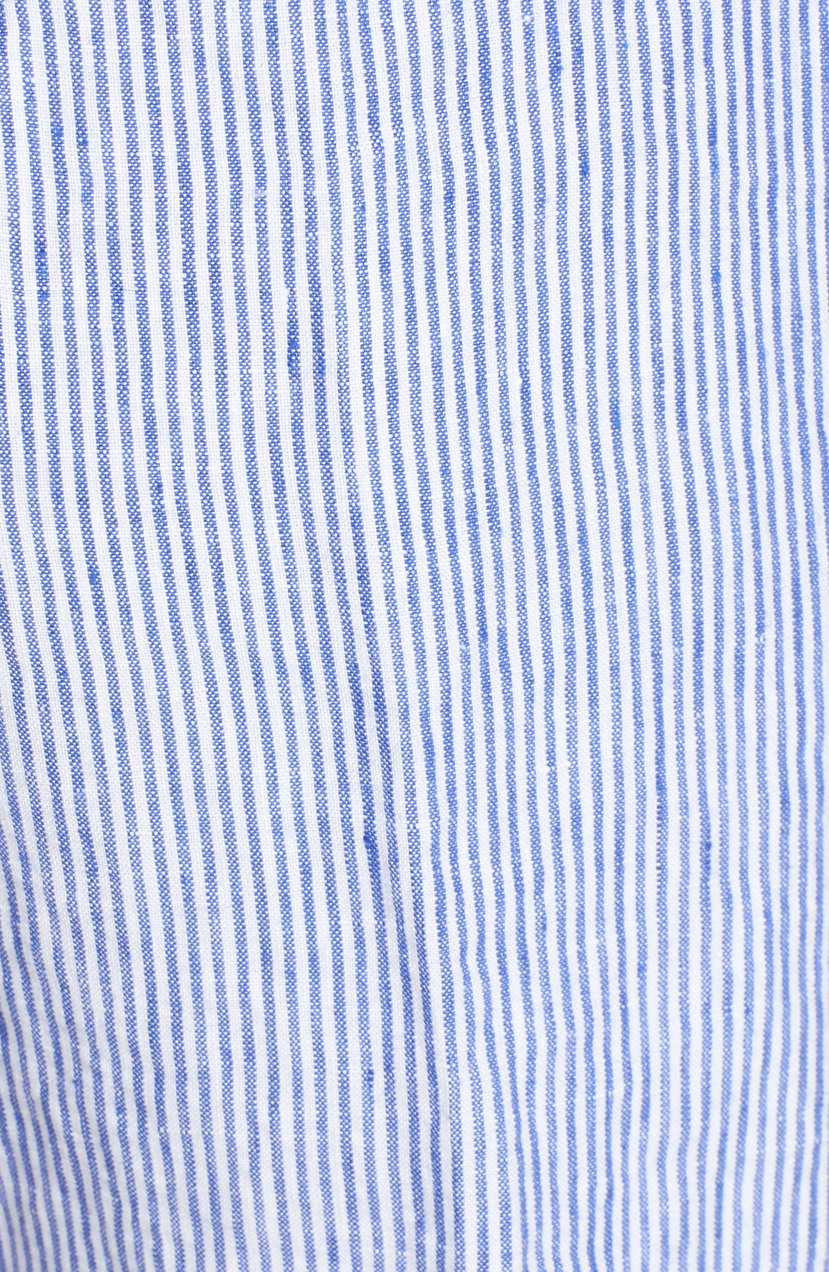 Alternate Image 5  - Vilebrequin Stripe Linen Bermuda Shorts
