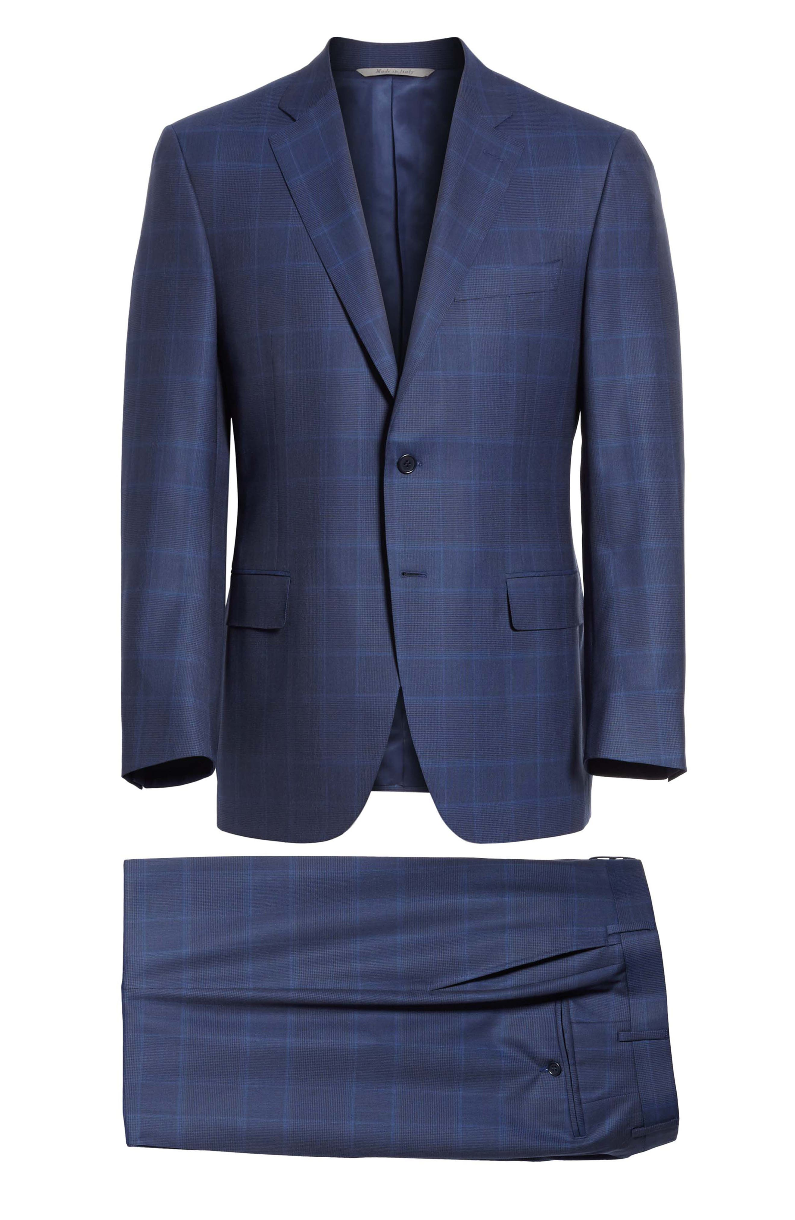 Alternate Image 8  - Canali Classic Fit Plaid Wool Suit