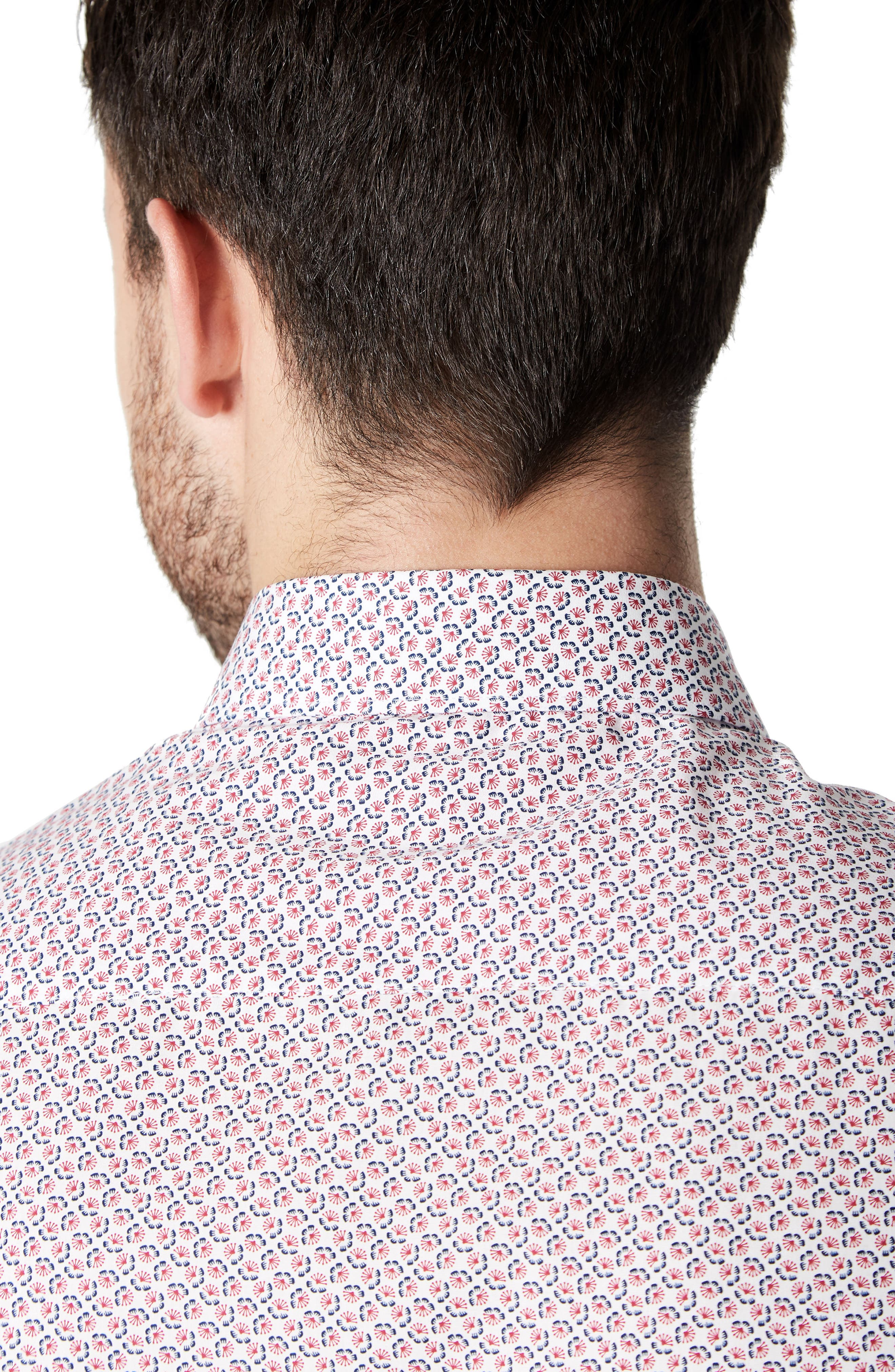 Funky Fire Woven Shirt,                             Alternate thumbnail 4, color,                             Red