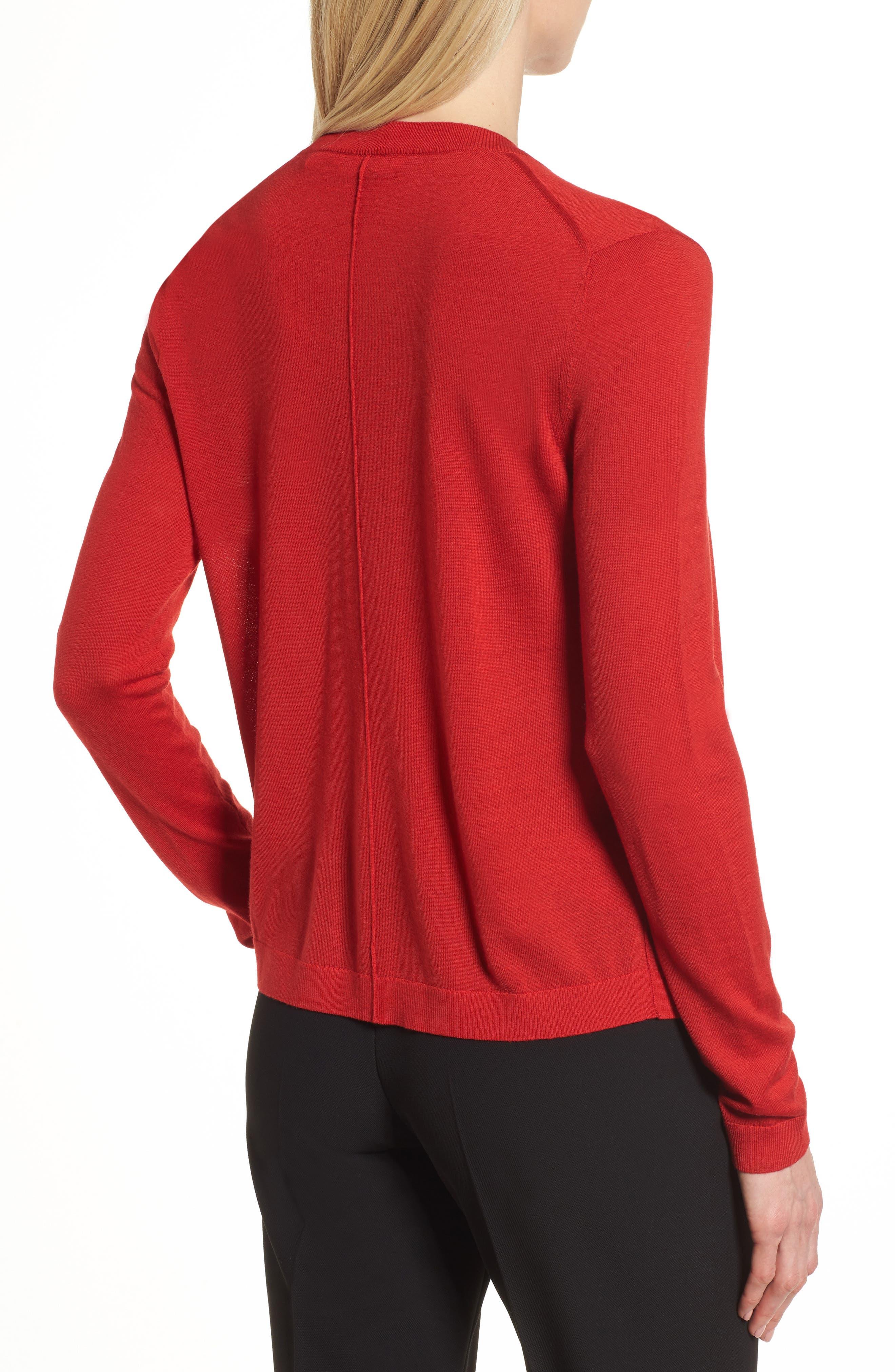 Fuyuma Wool Cardigan,                             Alternate thumbnail 2, color,                             Crimson Red