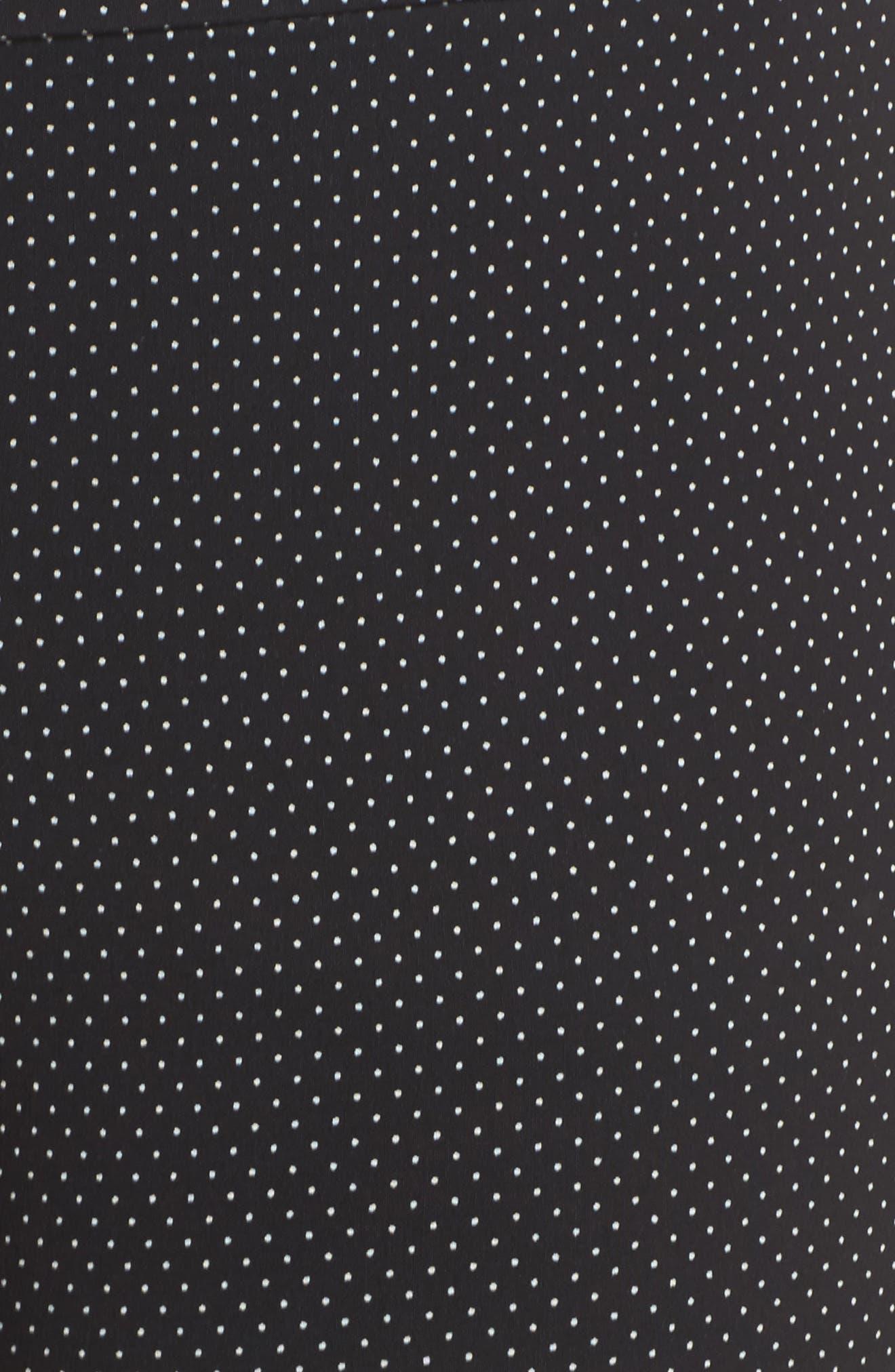 Polka Dot Crop Pants,                             Alternate thumbnail 5, color,                             Black- Ivory Dot