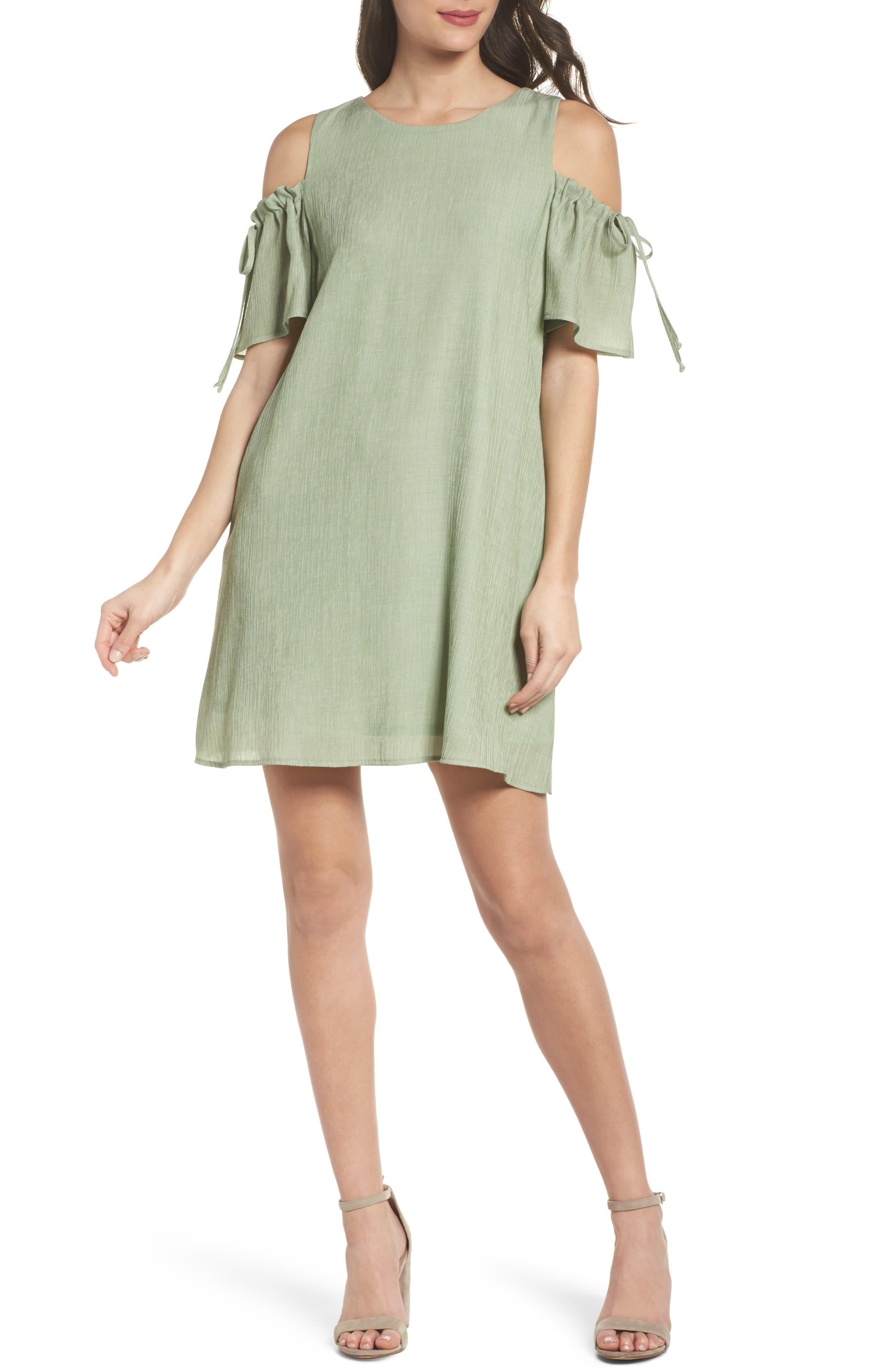 Main Image - NSR Cold Shoulder Shift Dress