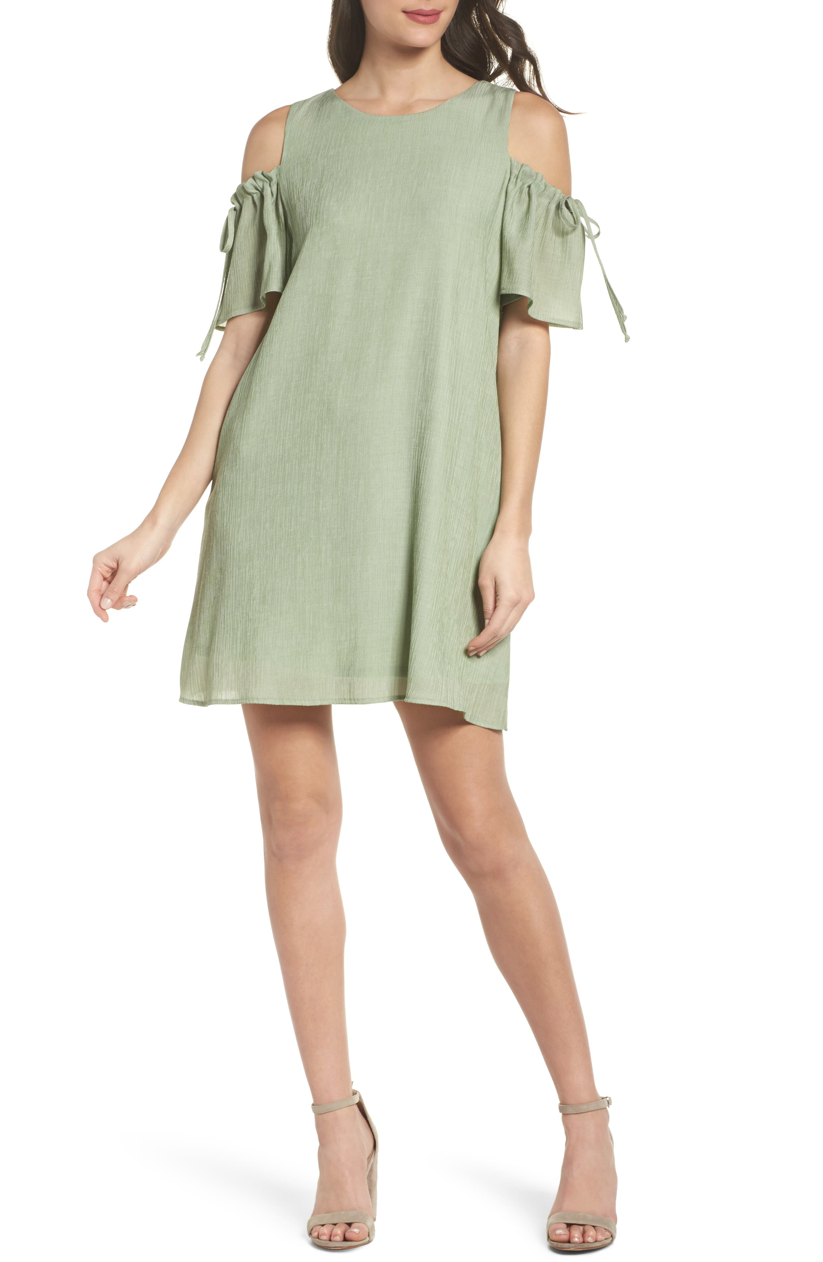 NSR Cold Shoulder Shift Dress