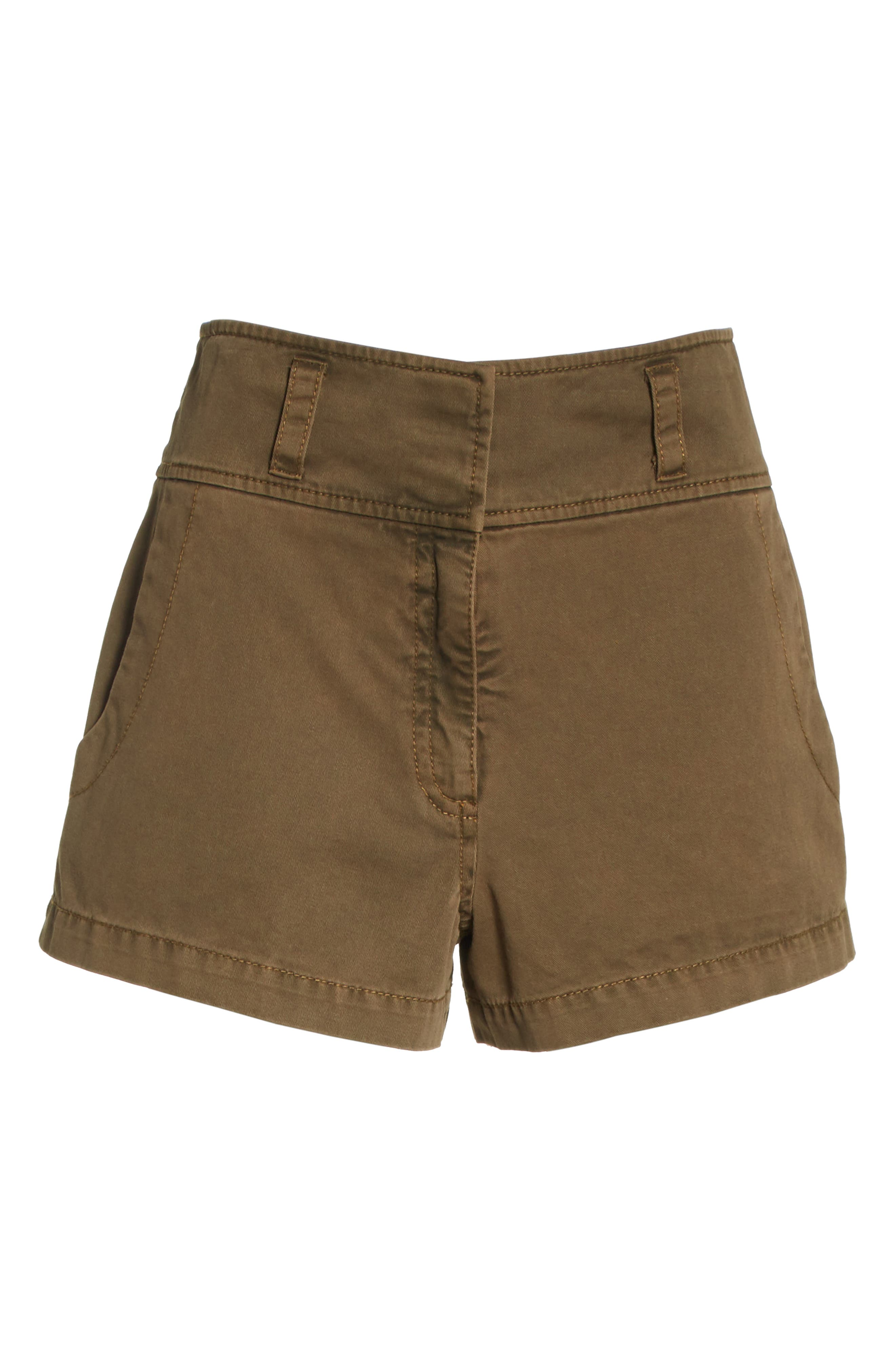 Tour Les Jour Shiloh Shorts,                             Alternate thumbnail 6, color,                             Olive/ Amber