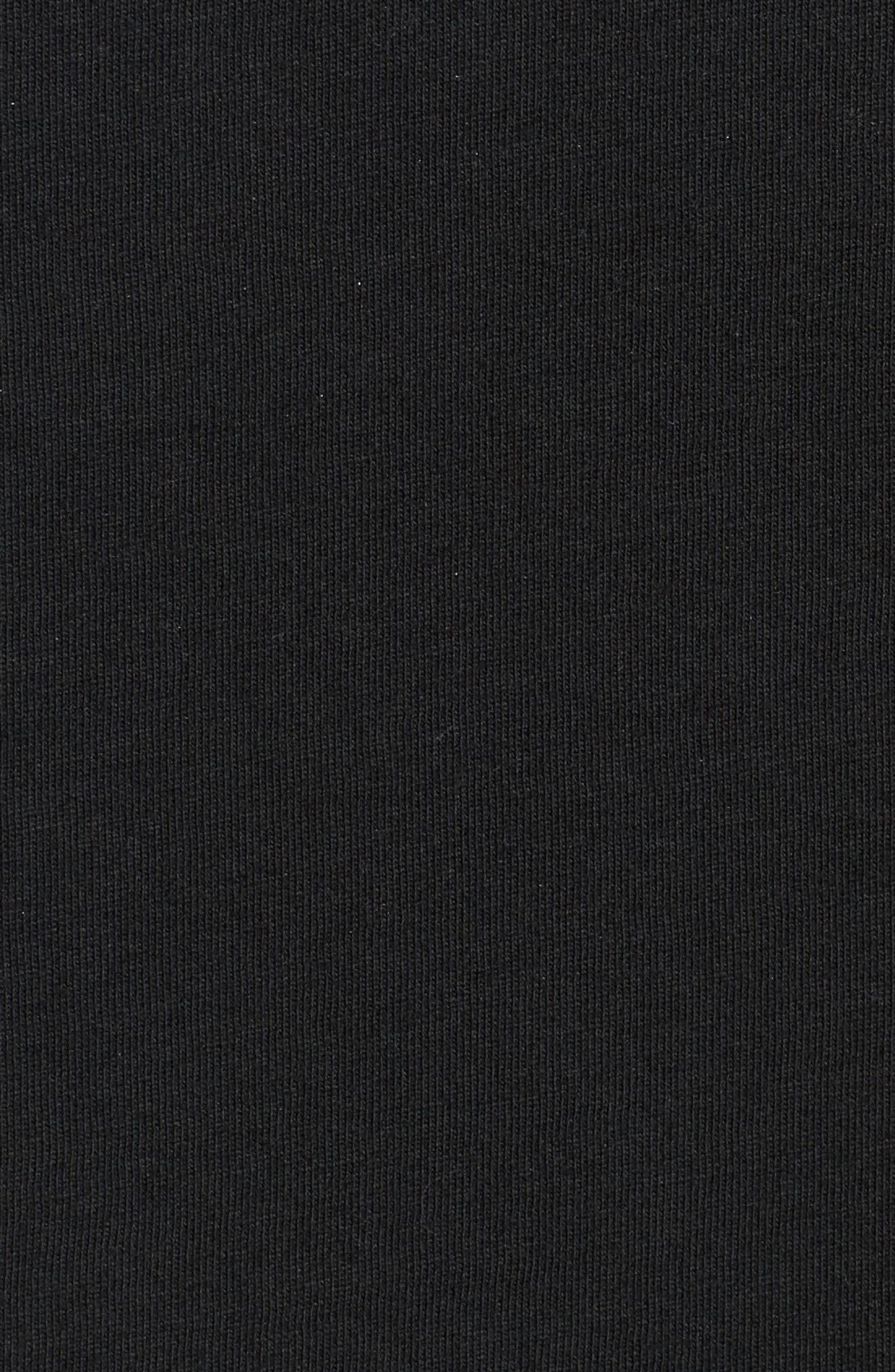 Wide Awake Graphic T-Shirt,                             Alternate thumbnail 5, color,                             Dusty Black