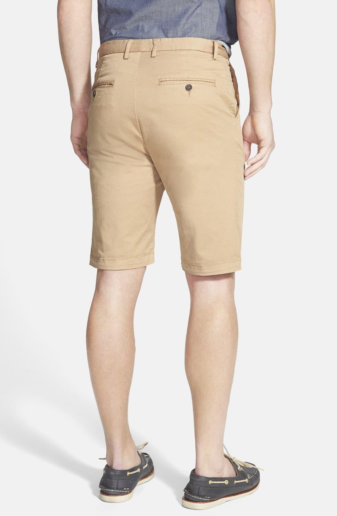 'Penrose' Flat Front Shorts,                             Alternate thumbnail 2, color,                             Camel