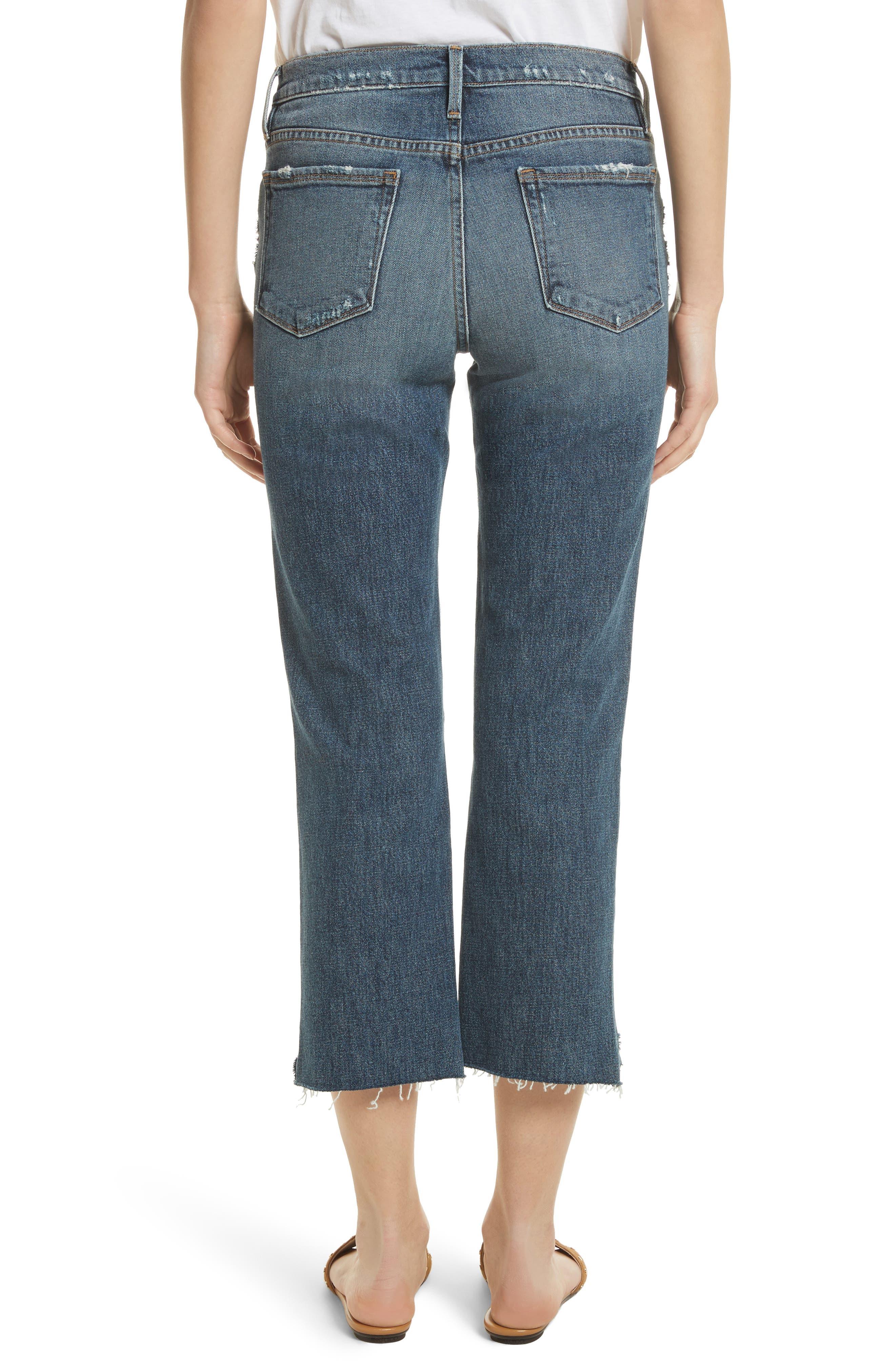 Le Nouveau Scoop Hem Ankle Straight Leg Jeans,                             Alternate thumbnail 2, color,                             Candover